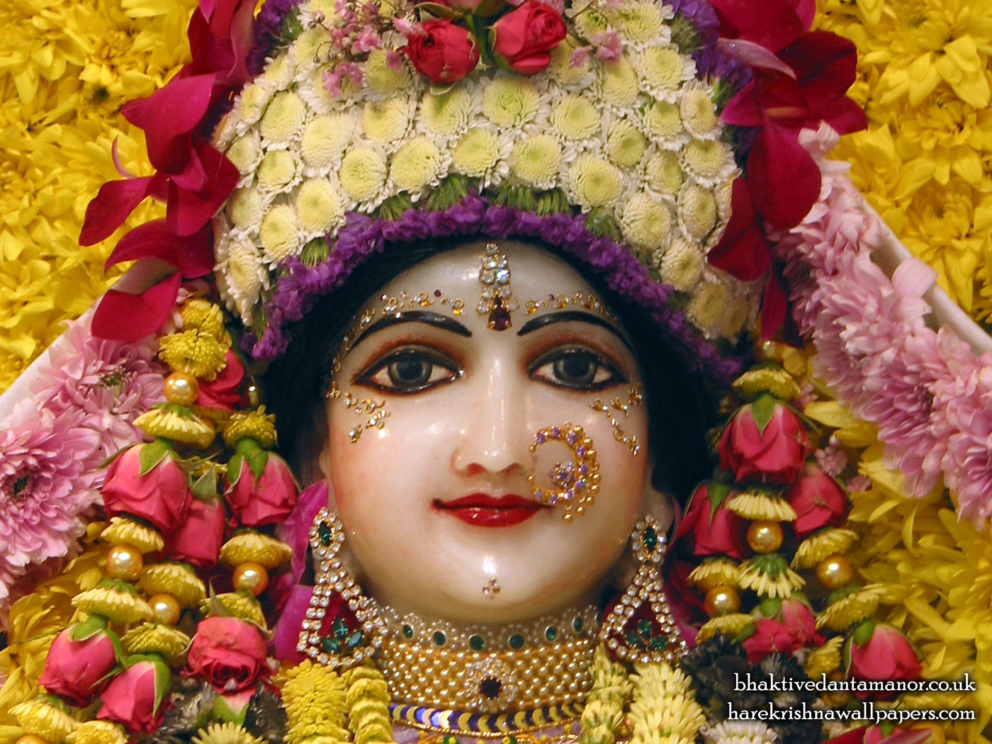 Sri Radha Close up Wallpaper (020) Size 1400x1050 Download