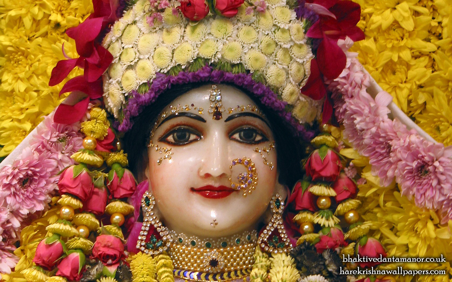 Sri Radha Close up Wallpaper (020) Size 1440x900 Download