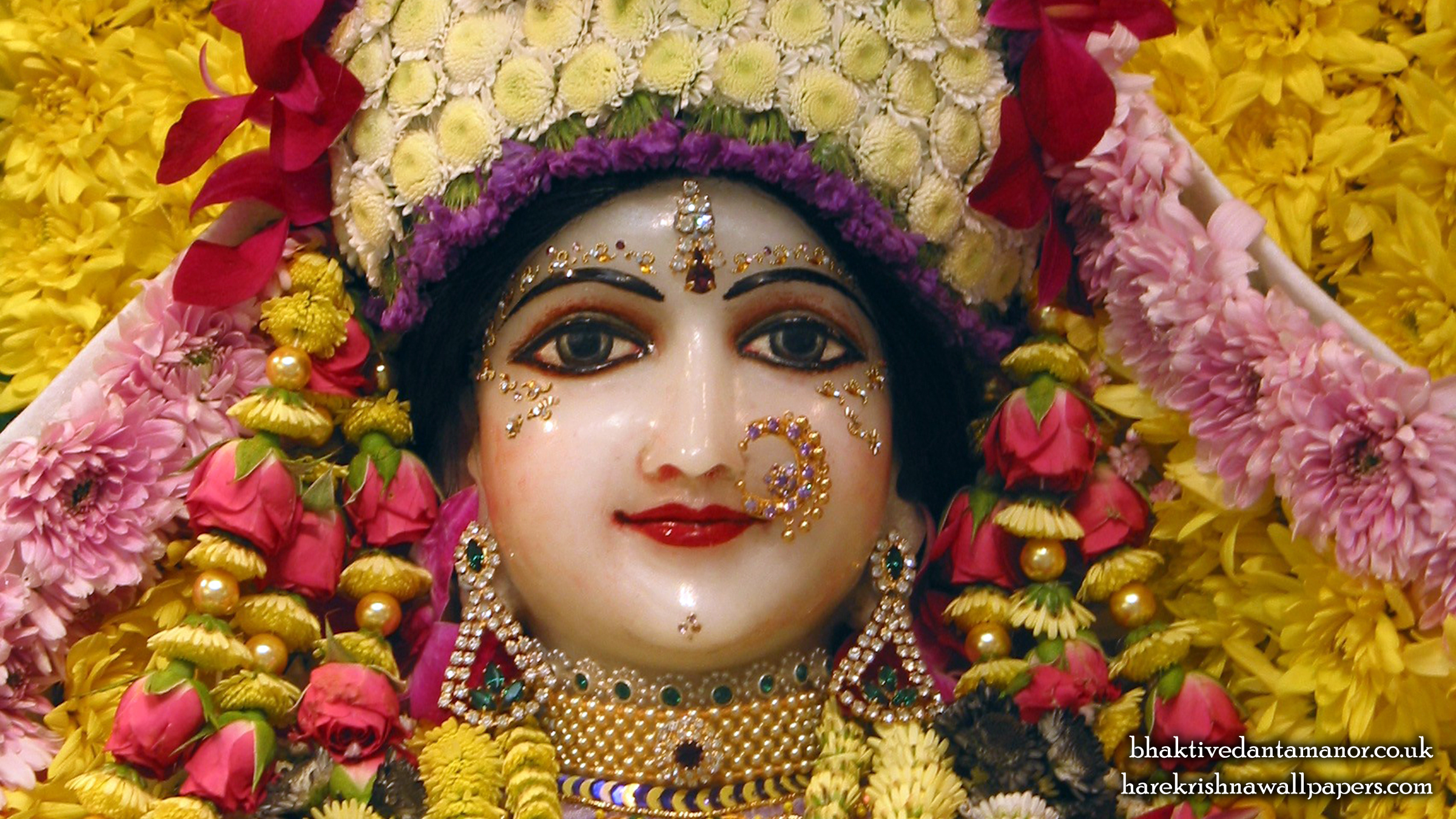 Sri Radha Close up Wallpaper (020) Size 2400x1350 Download