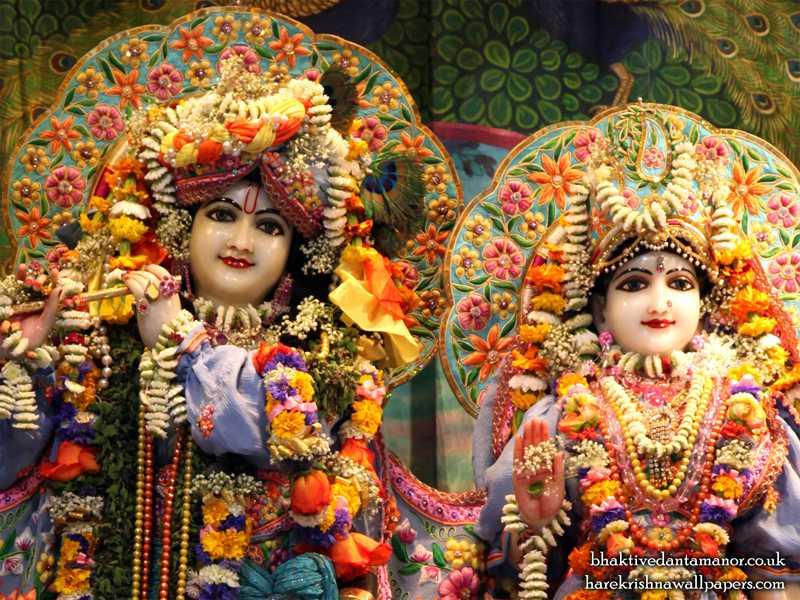 Sri Sri Radha Gokulanand Close up Wallpaper (020)