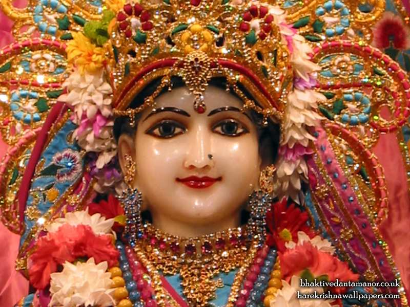 Sri Radha Close up Wallpaper (021)