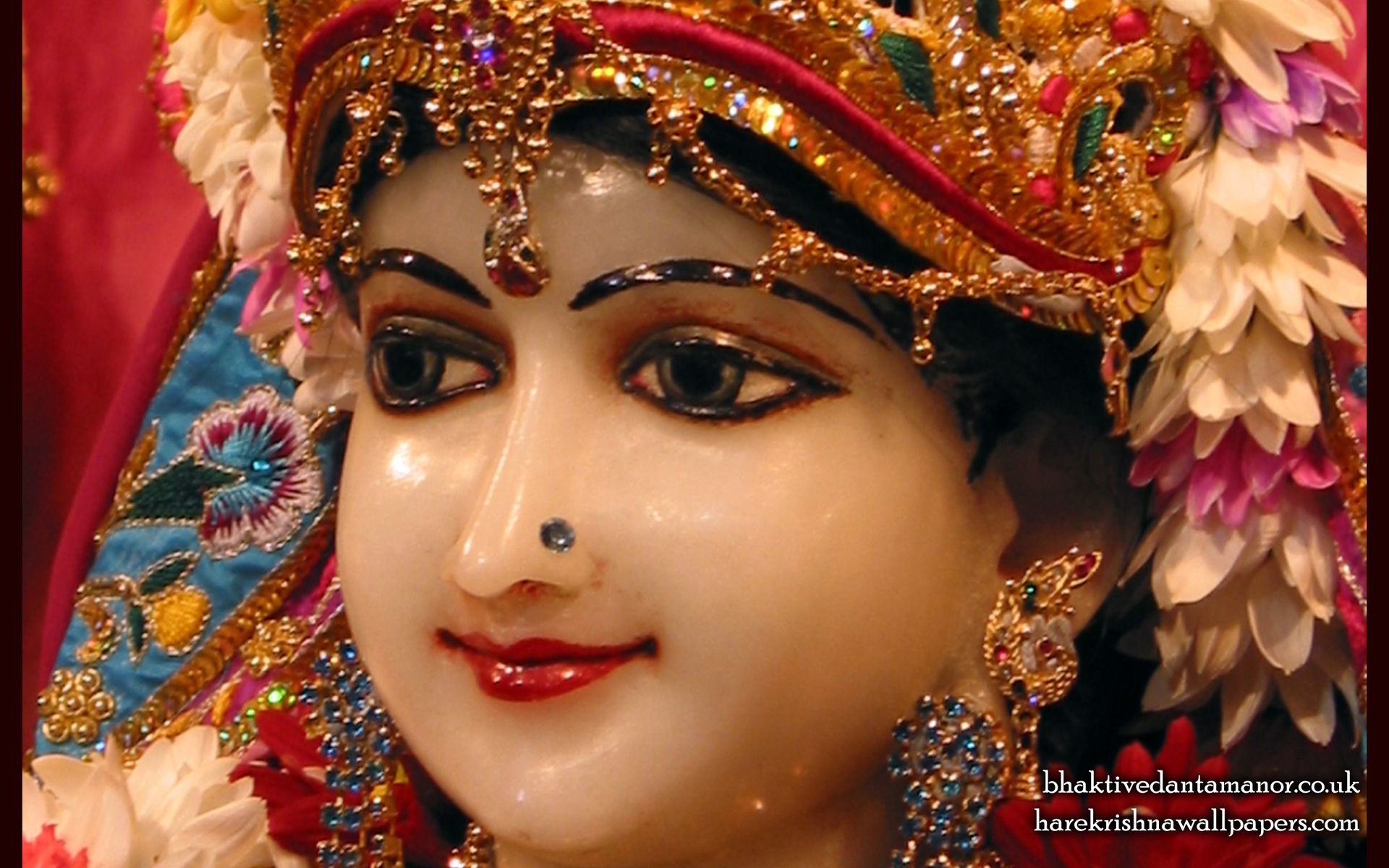 Sri Radha Close up Wallpaper (022) Size 1920x1200 Download