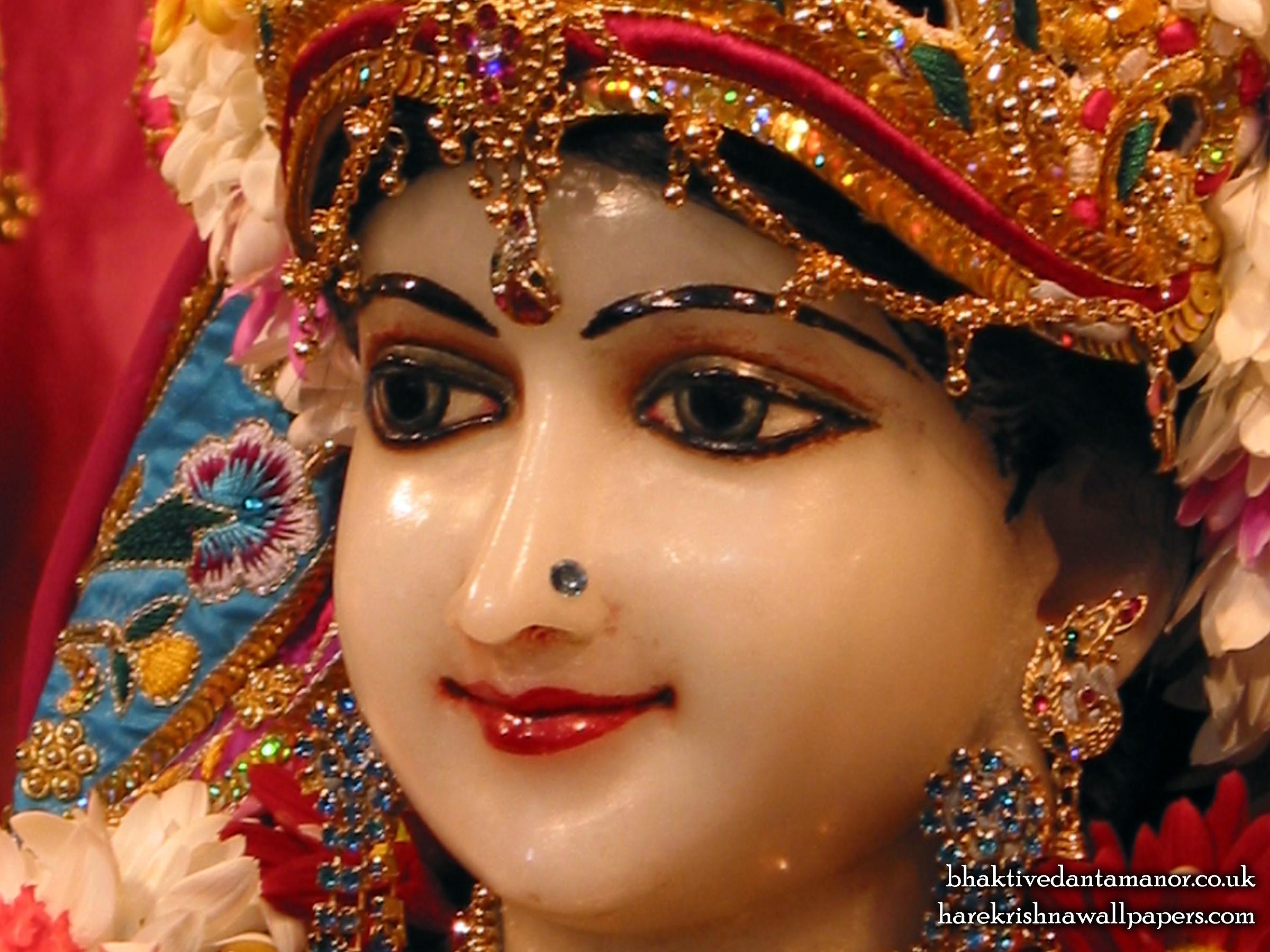 Sri Radha Close up Wallpaper (022) Size 2400x1800 Download