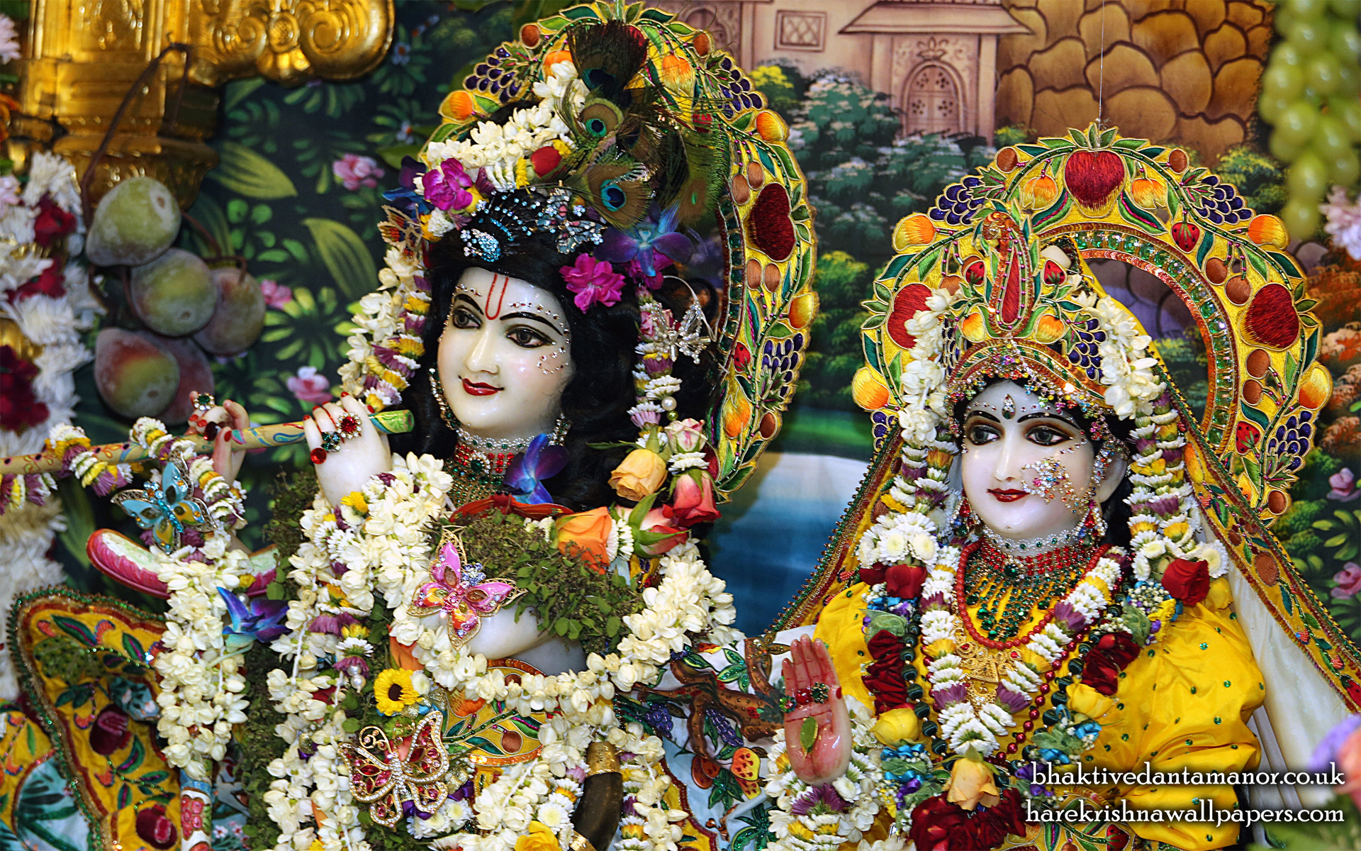 Sri Sri Radha Gokulanand Close up Wallpaper (023) Size 1920x1200 Download