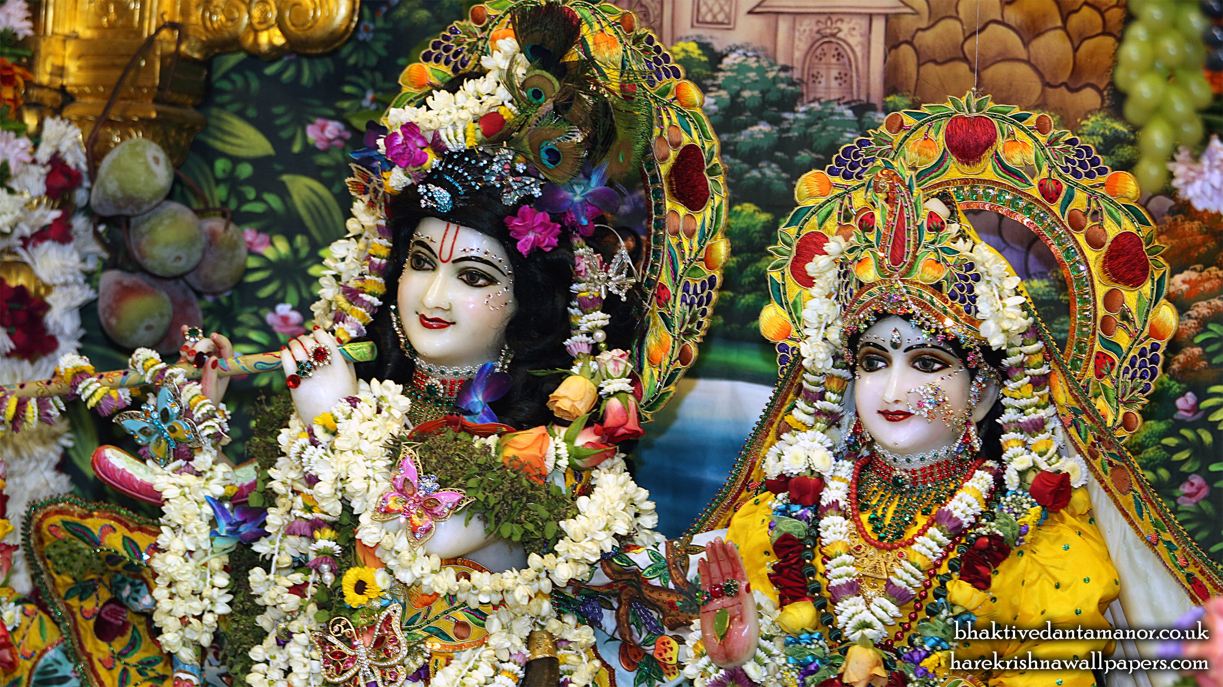 Sri Sri Radha Gokulanand Close up Wallpaper (023) Size 2400x1350 Download