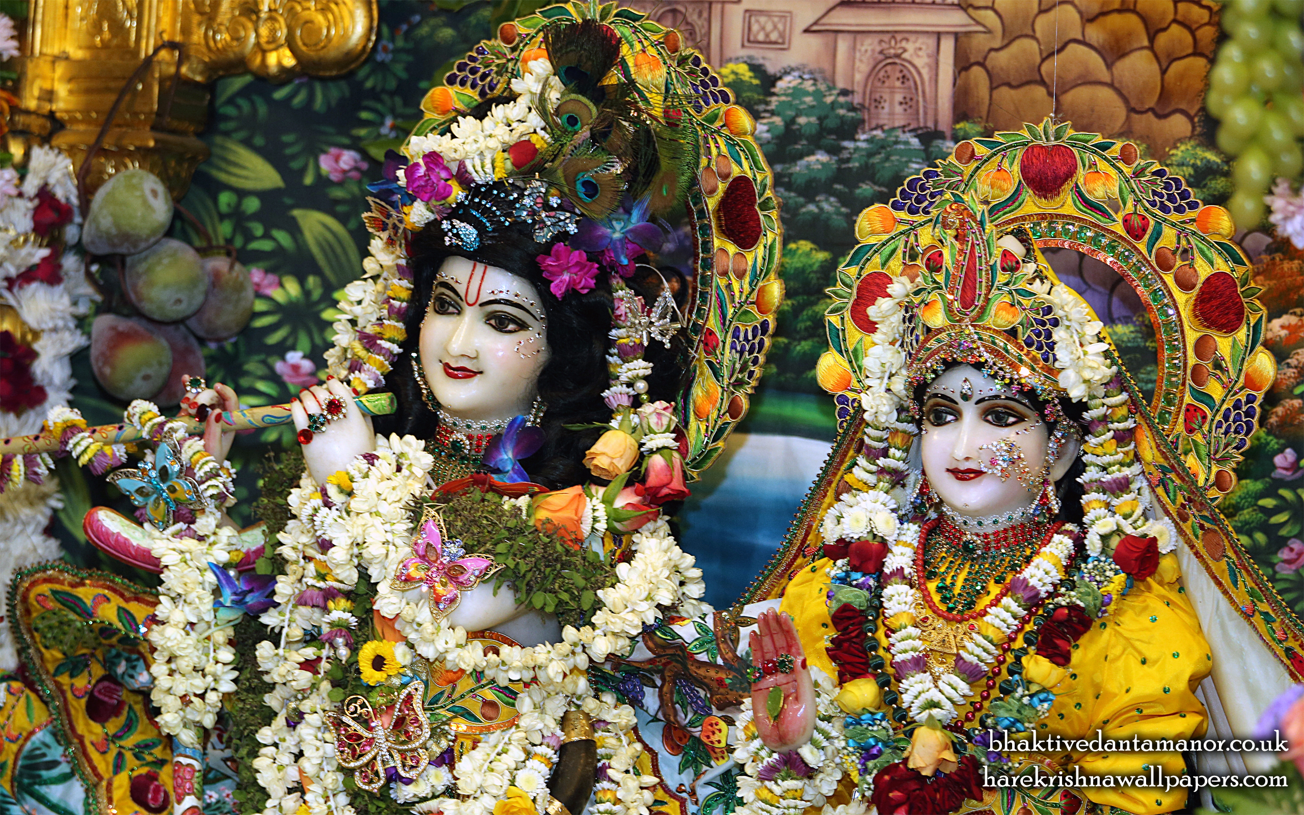 Sri Sri Radha Gokulanand Close up Wallpaper (023) Size 2560x1600 Download