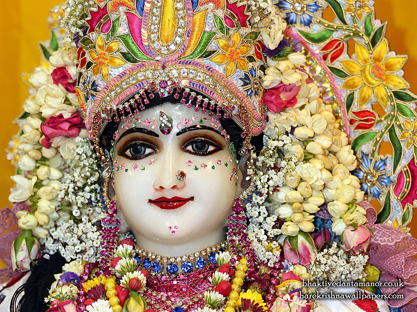 Sri Radha Close up Wallpaper (024) Size 1400x1050 Download