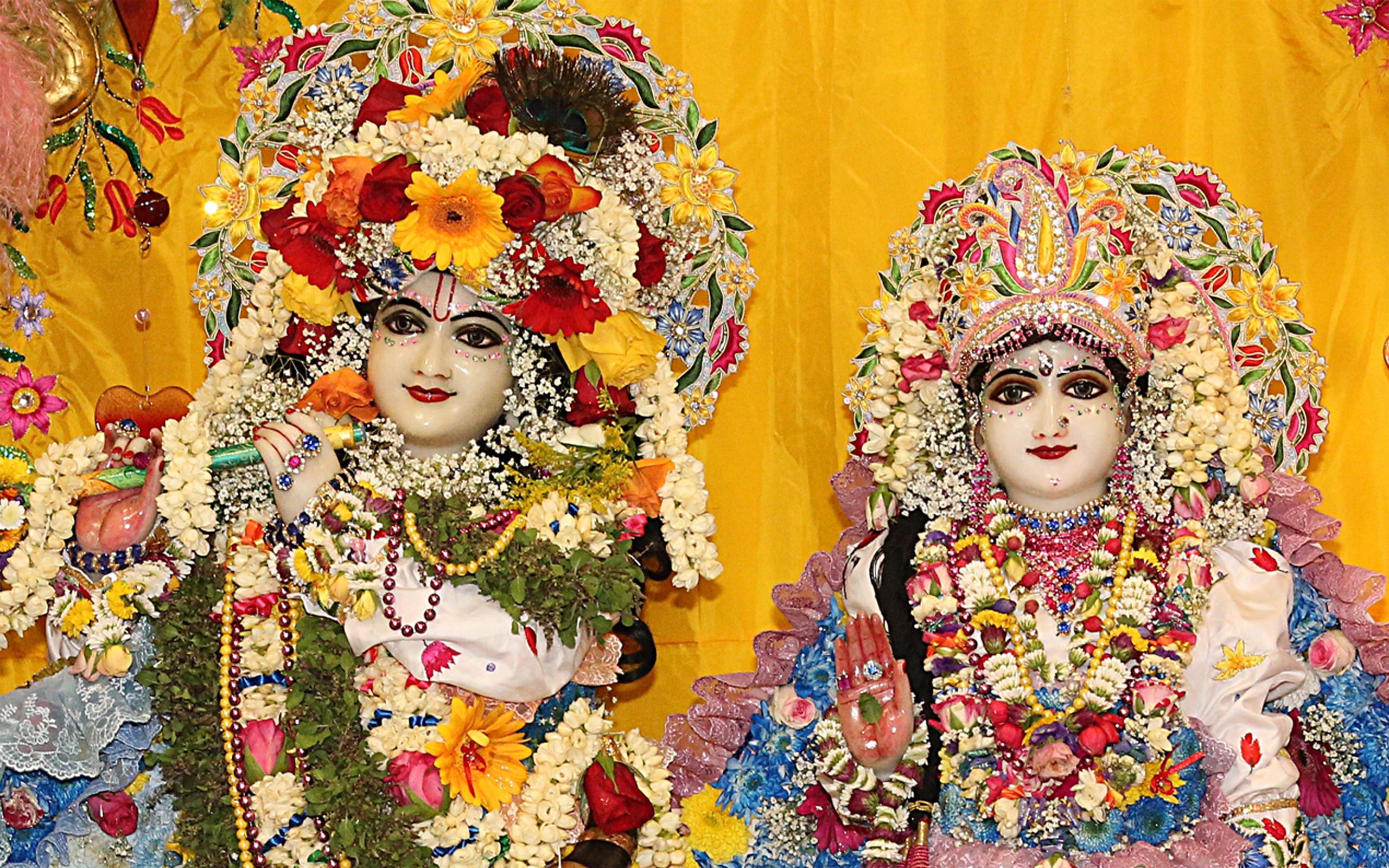 Sri Sri Radha Gokulananda Close up Wallpaper (024) Size 2560x1600 Download