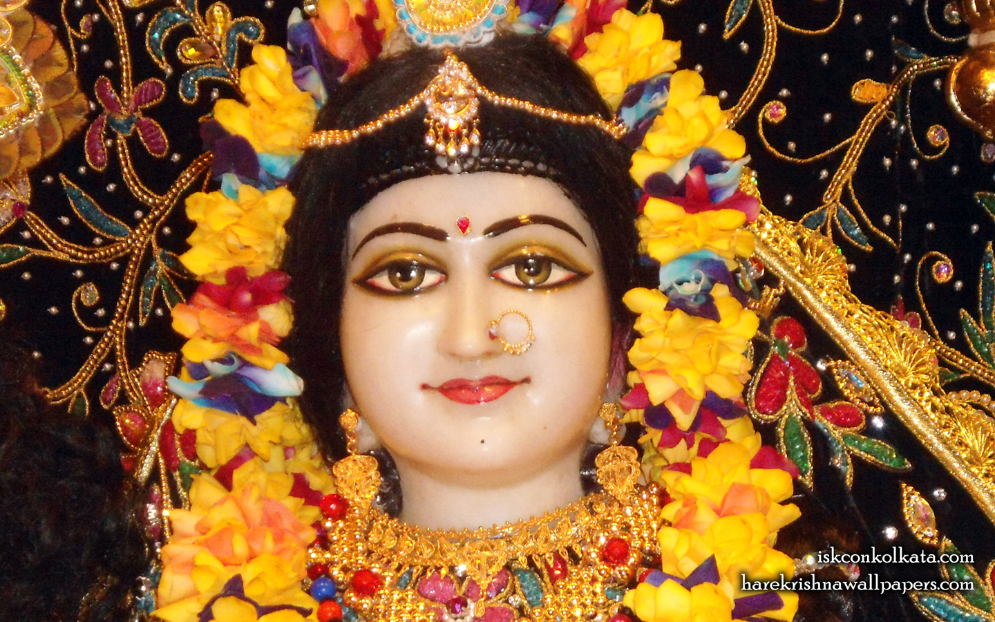 Sri Radha Close up Wallpaper (001) Size 1440x900 Download
