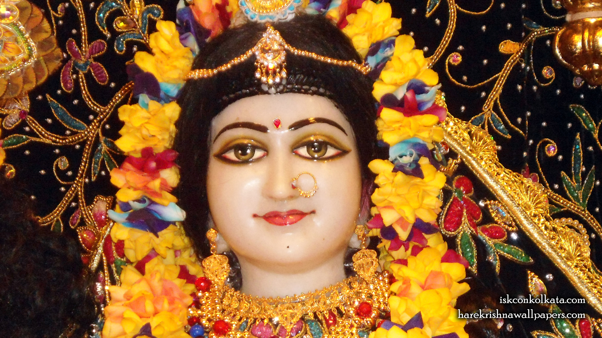 Sri Radha Close up Wallpaper (001) Size 1920x1080 Download