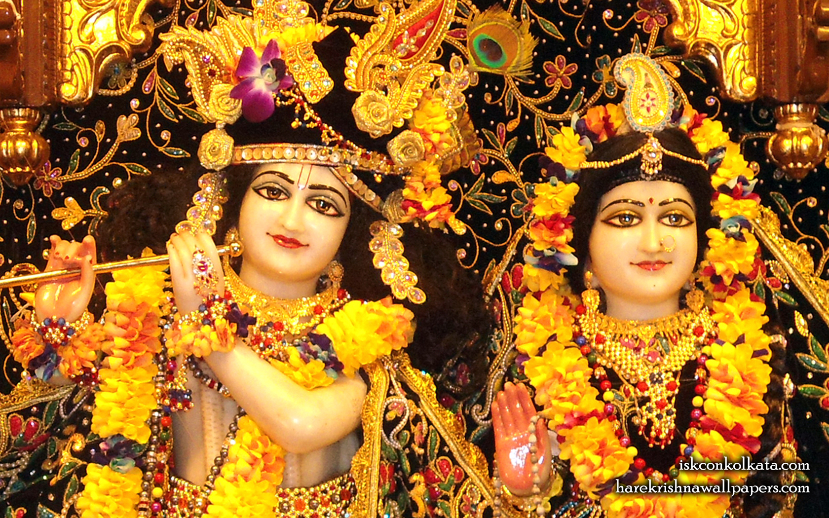 Sri Sri Radha Govinda Close up Wallpaper (001) Size 1680x1050 Download
