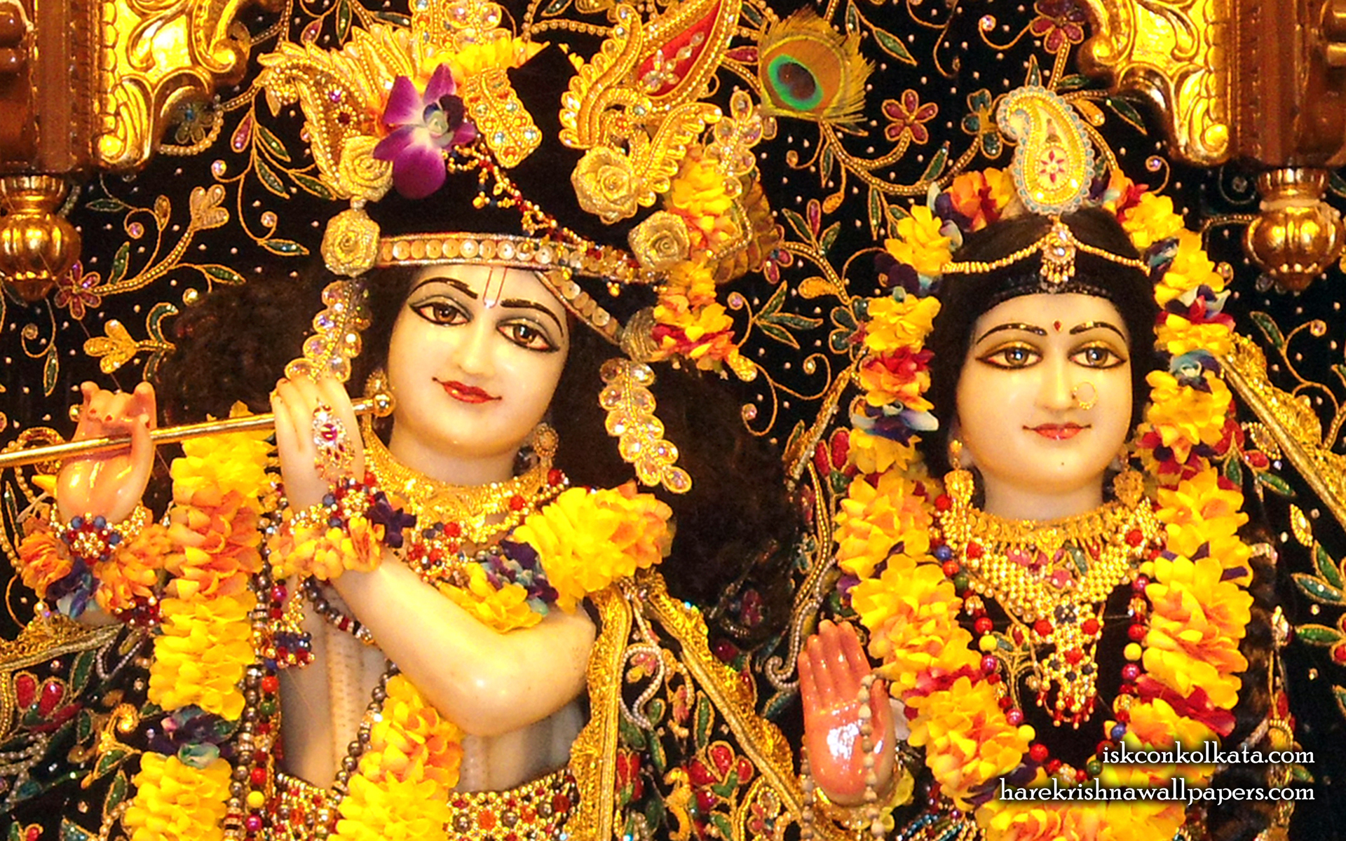 Sri Sri Radha Govinda Close up Wallpaper (001) Size 1920x1200 Download