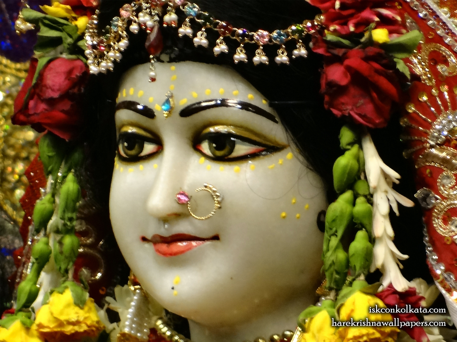 Sri Radha Close up Wallpaper (002) Size1600x1200 Download