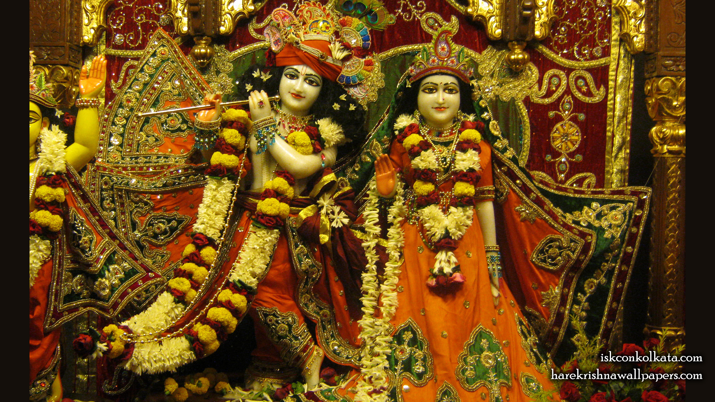 Sri Sri Radha Govinda Wallpaper (002) Size 2400x1350 Download
