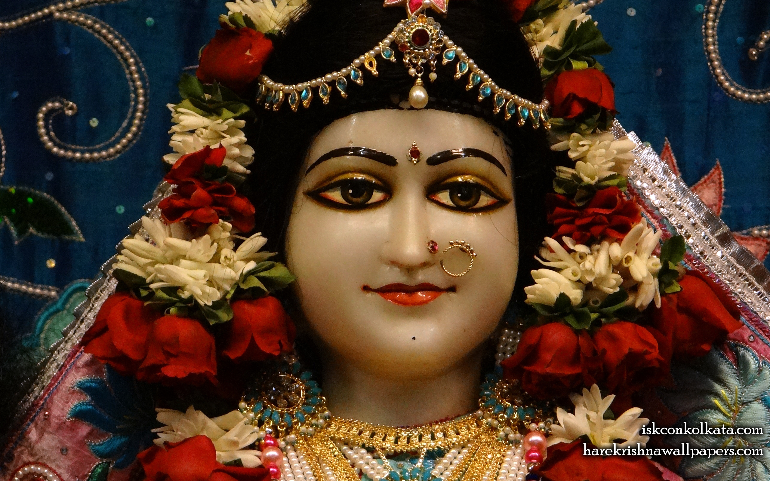 Sri Radha Close up Wallpaper (003) Size 2560x1600 Download