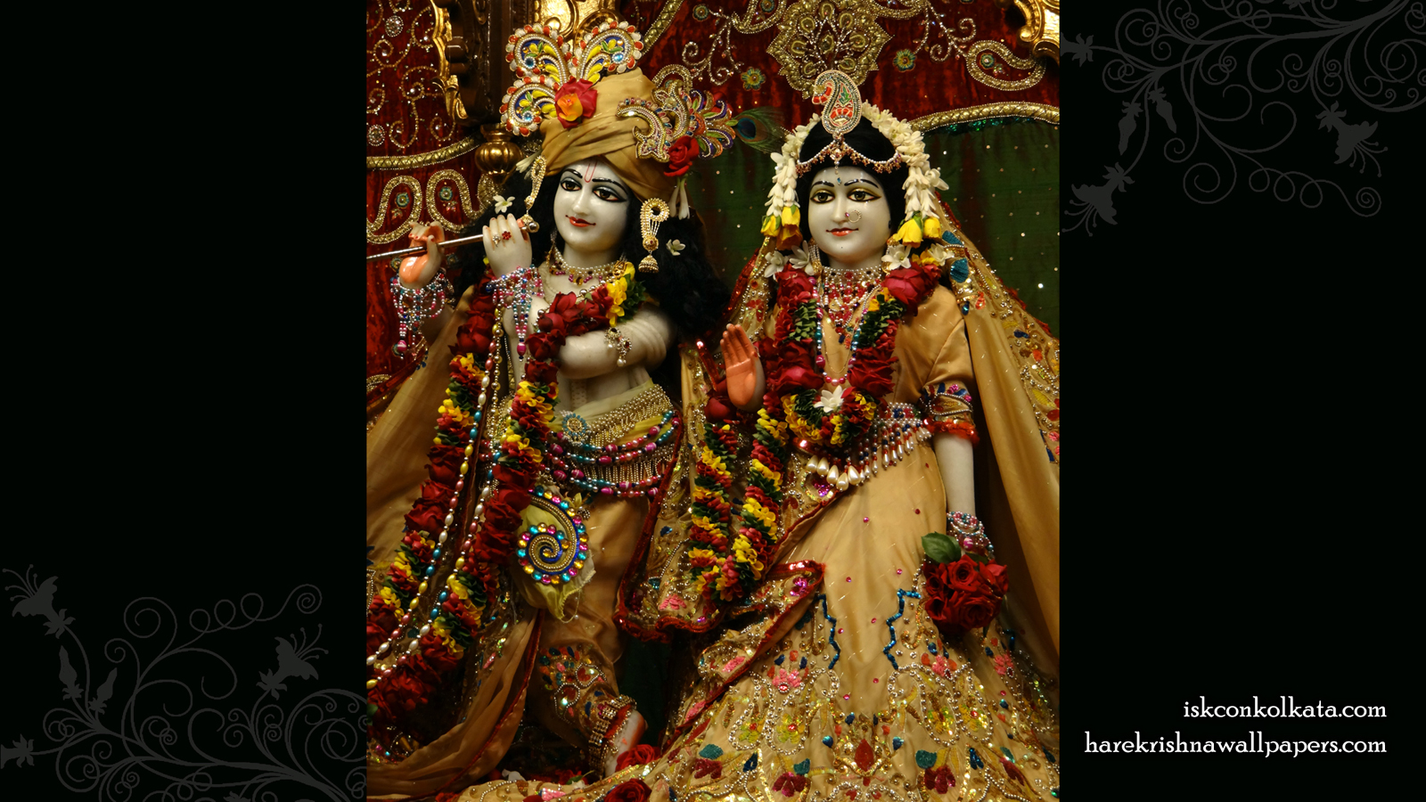 Sri Sri Radha Govinda Wallpaper (004) Size 1600x900 Download