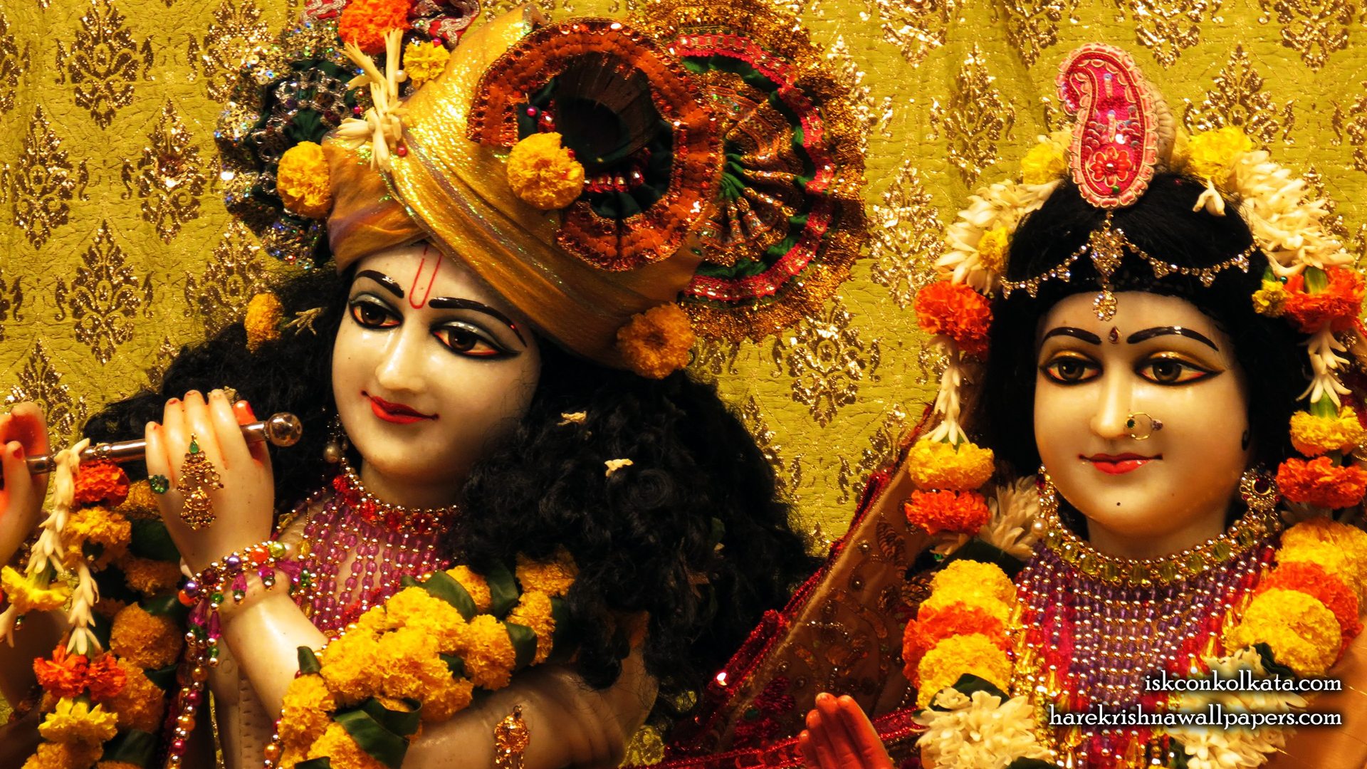 Sri Sri Radha Govinda Close up Wallpaper (004) Size 1920x1080 Download