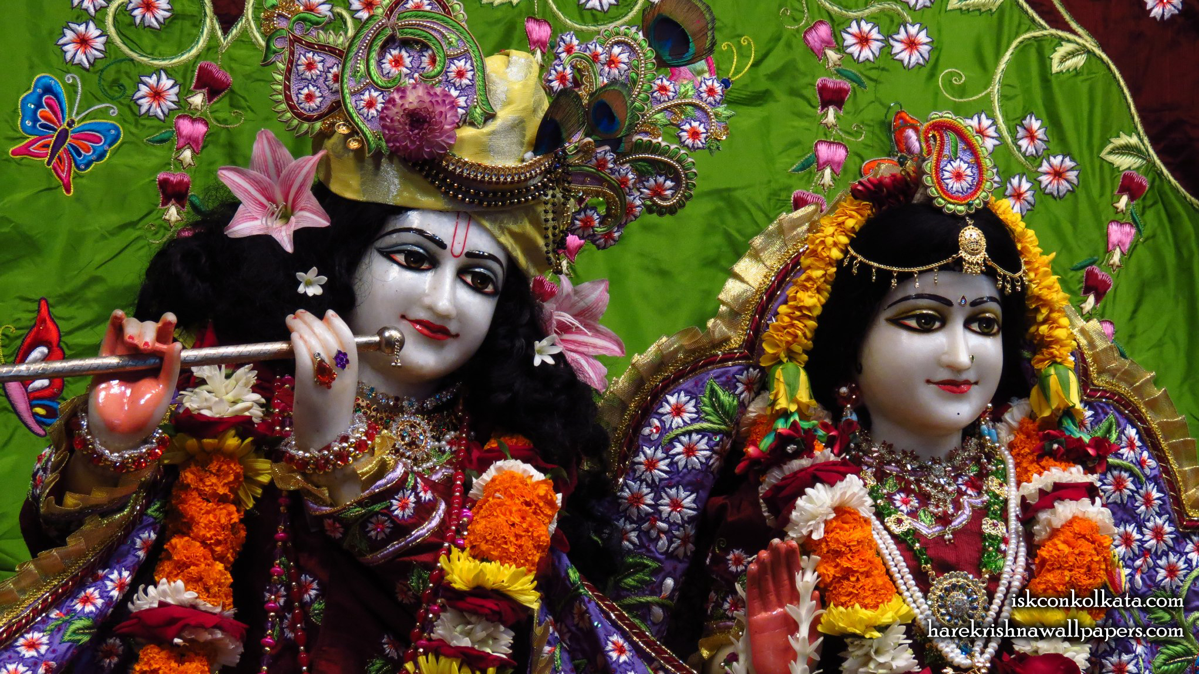 Sri Sri Radha Govinda Close up Wallpaper (005) Size 2400x1350 Download