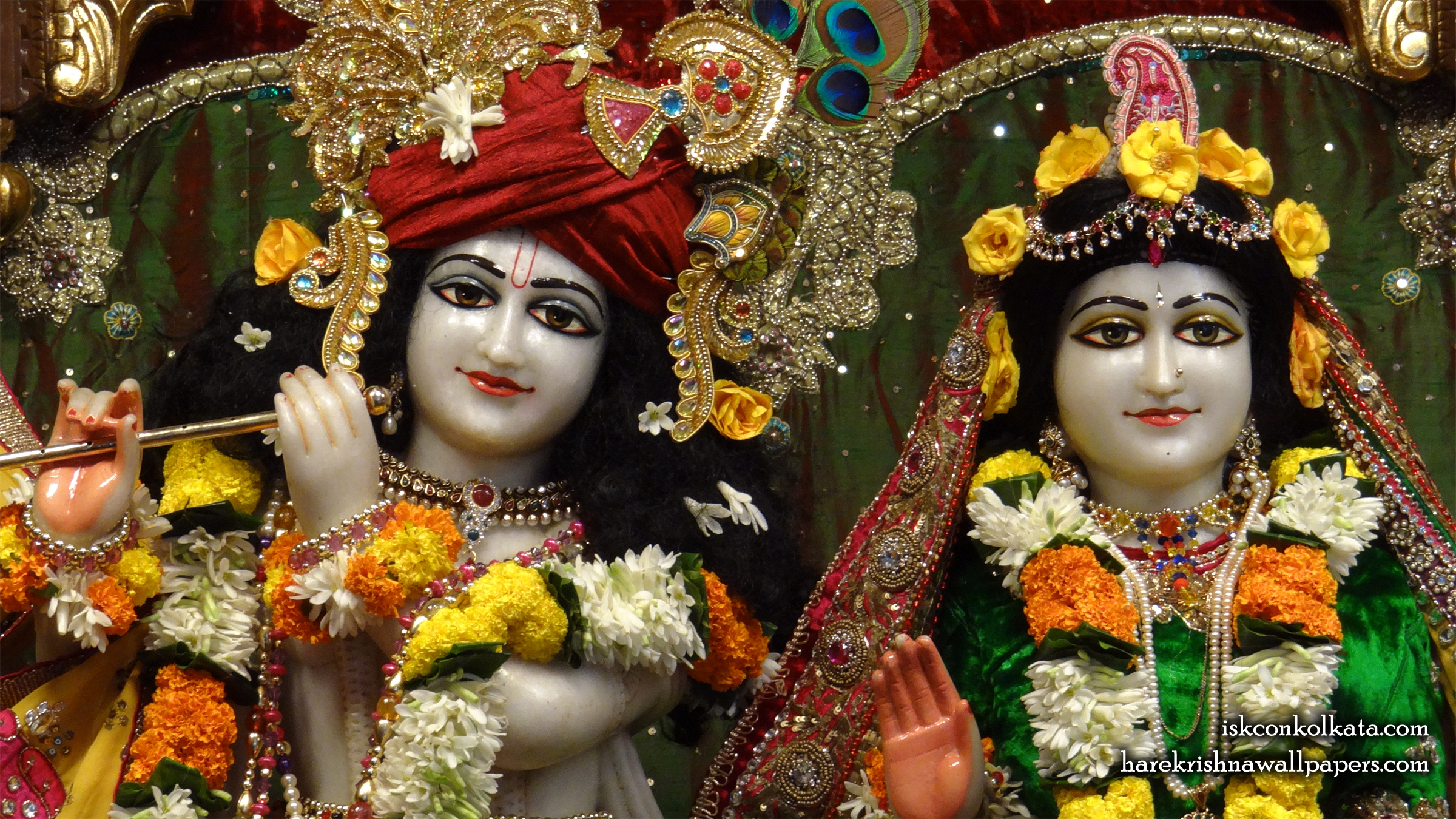 Sri Sri Radha Govinda Close up Wallpaper (006) Size 2400x1350 Download