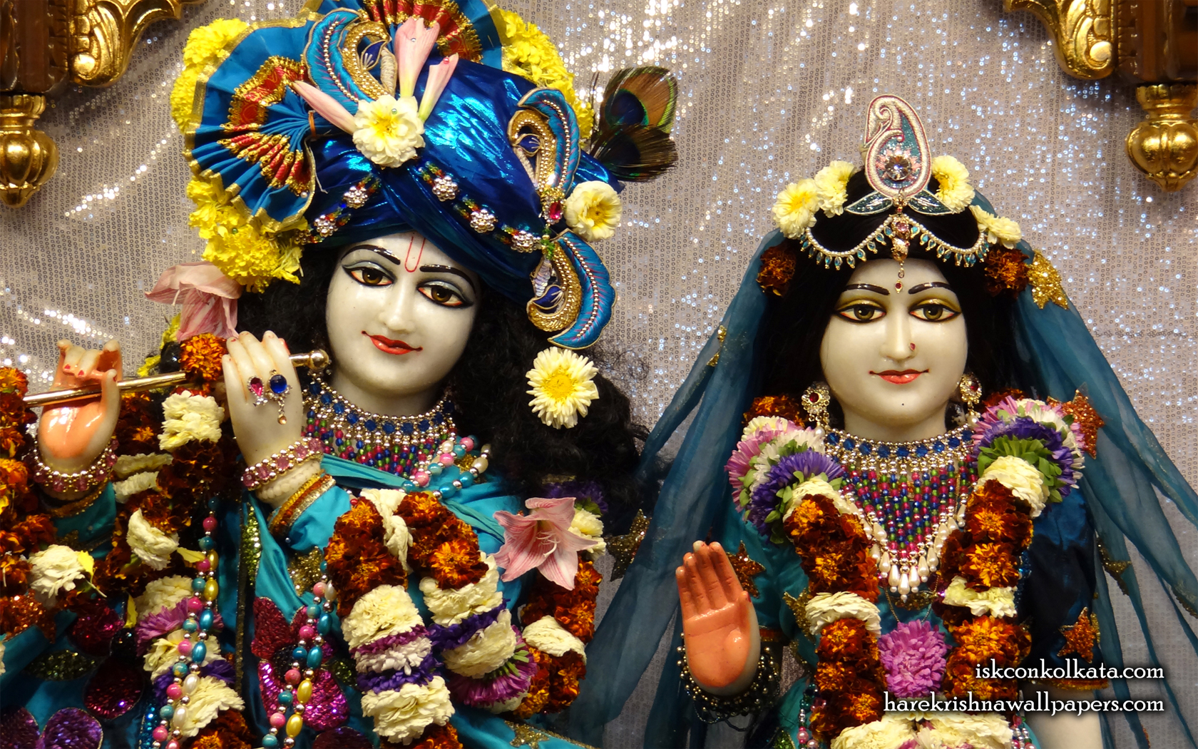 Sri Sri Radha Govinda Close up Wallpaper (007) Size 1680x1050 Download