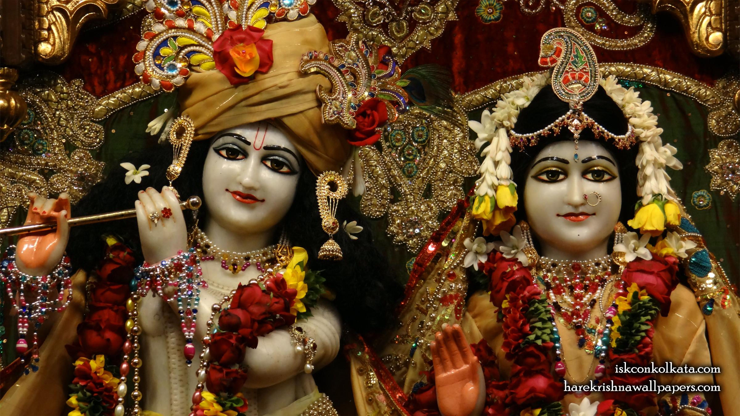 Sri Sri Radha Govinda Close up Wallpaper (009) Size 2400x1350 Download