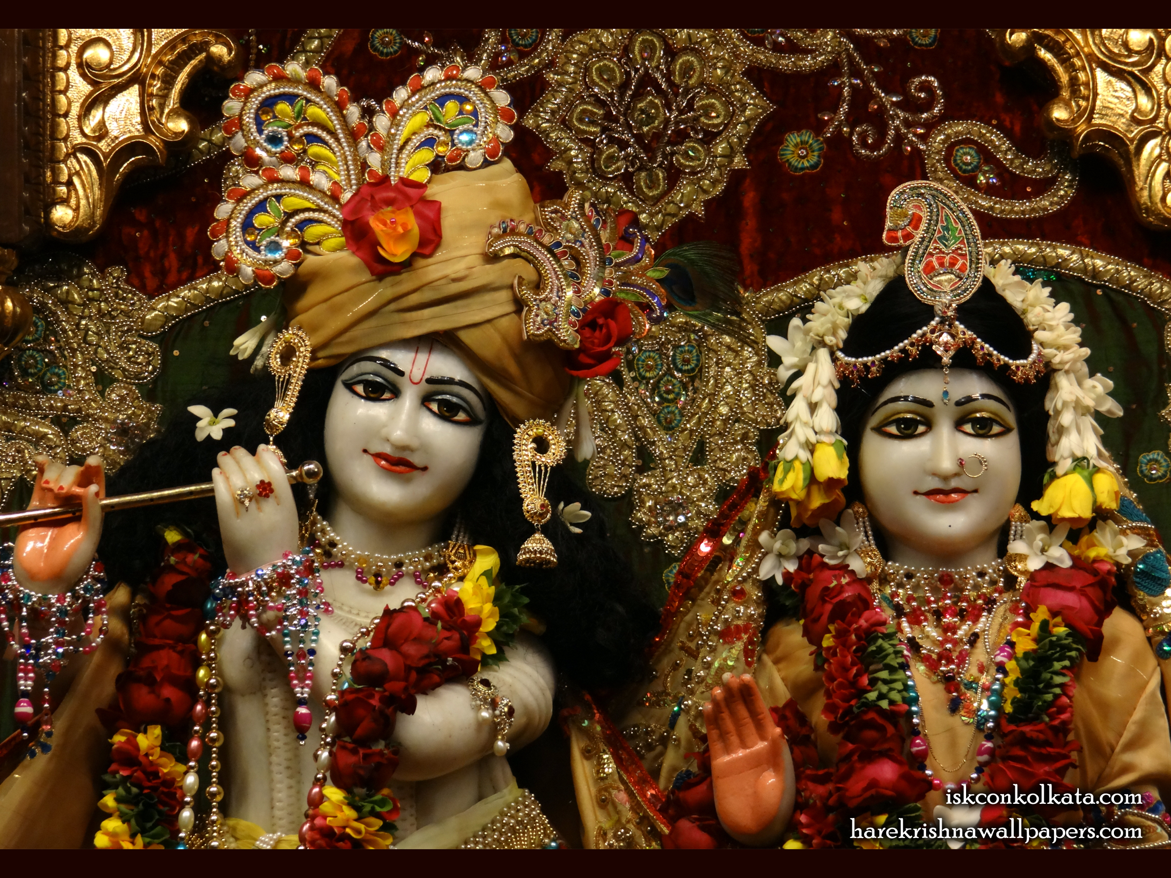 Sri Sri Radha Govinda Close up Wallpaper (009) Size 2400x1800 Download