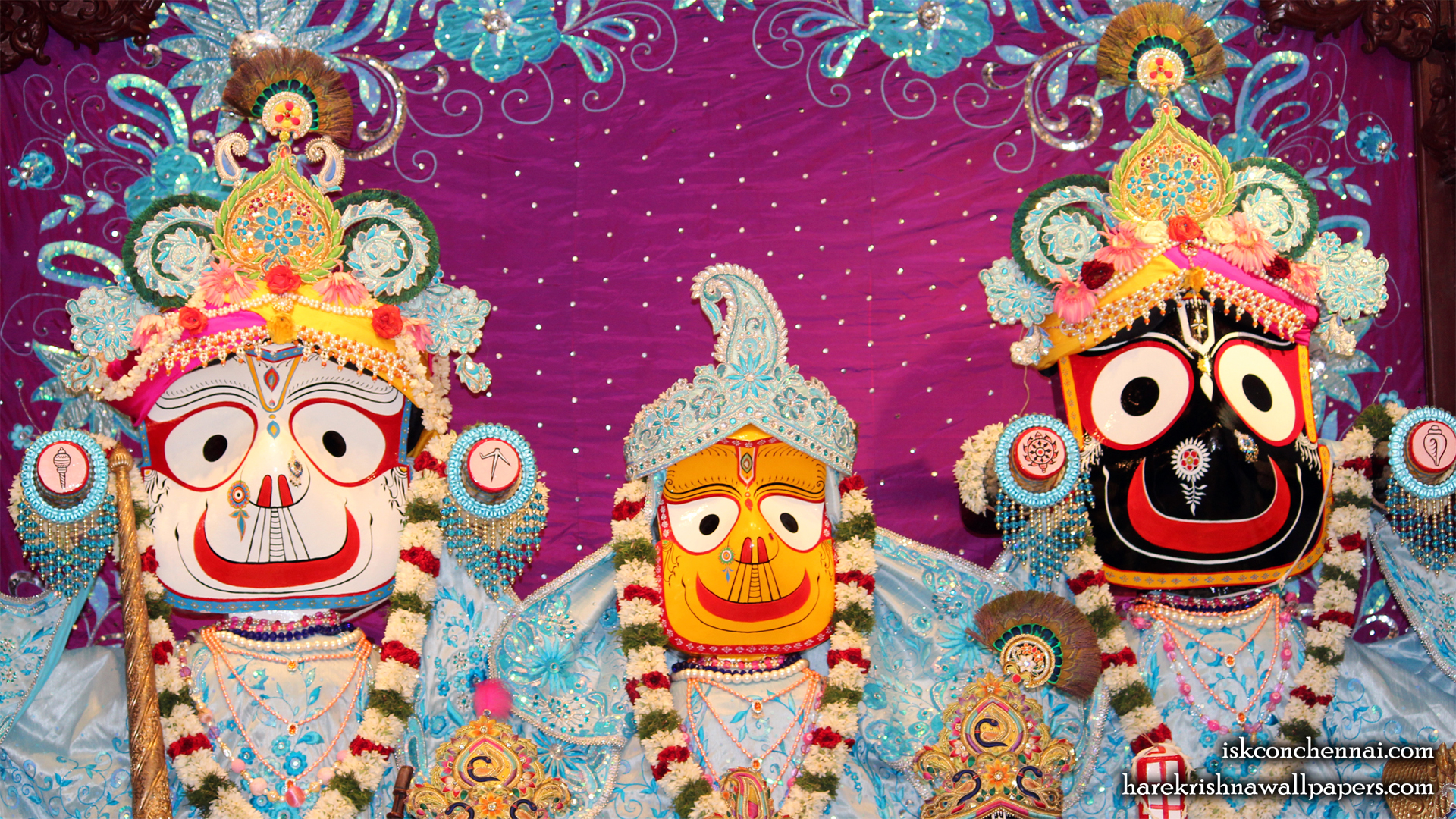 Jagannath Baladeva Subhadra Wallpaper (001) Size 1920x1080 Download