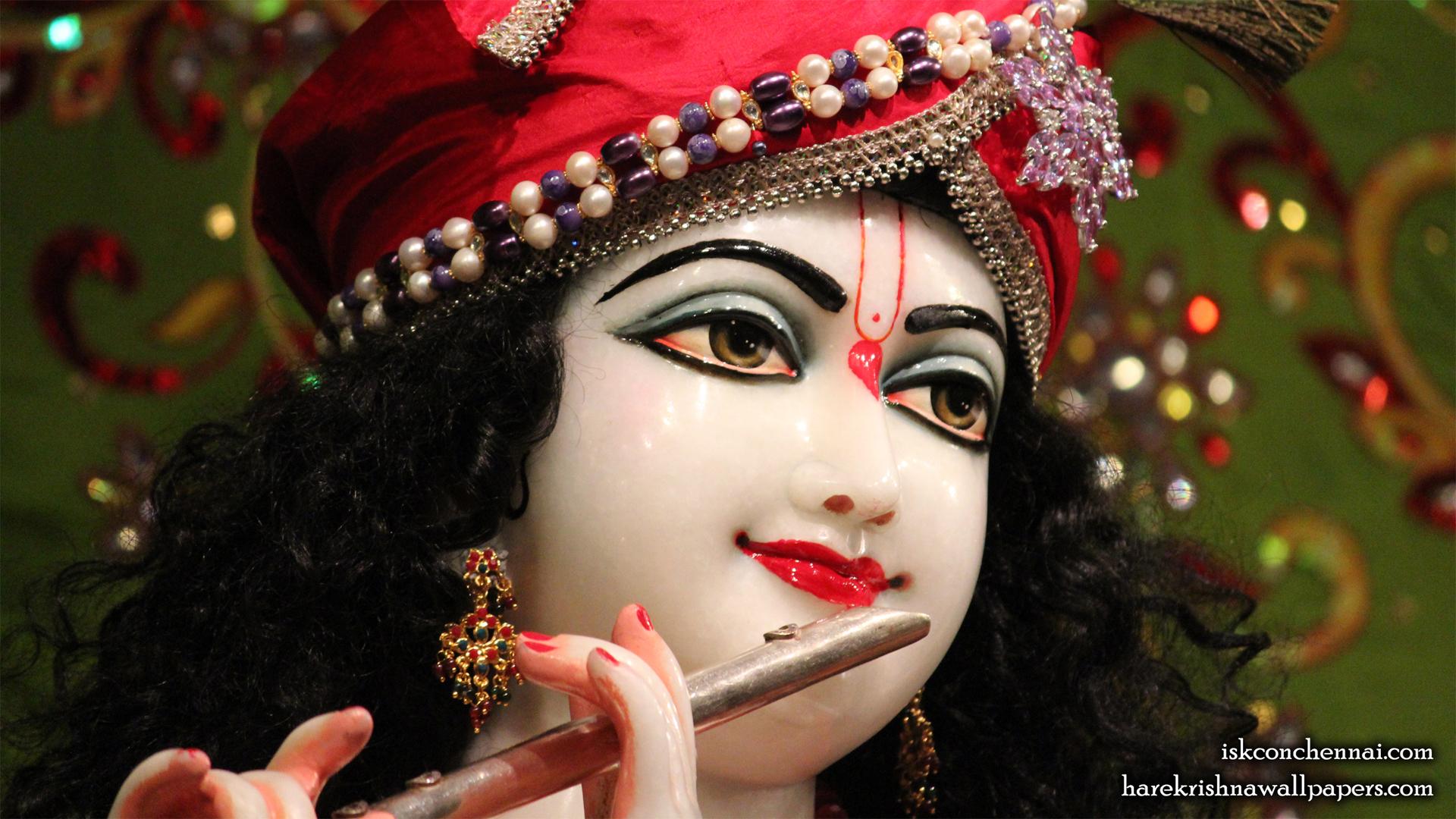 Sri Krishna Close up Wallpaper (001) Size 1920x1080 Download