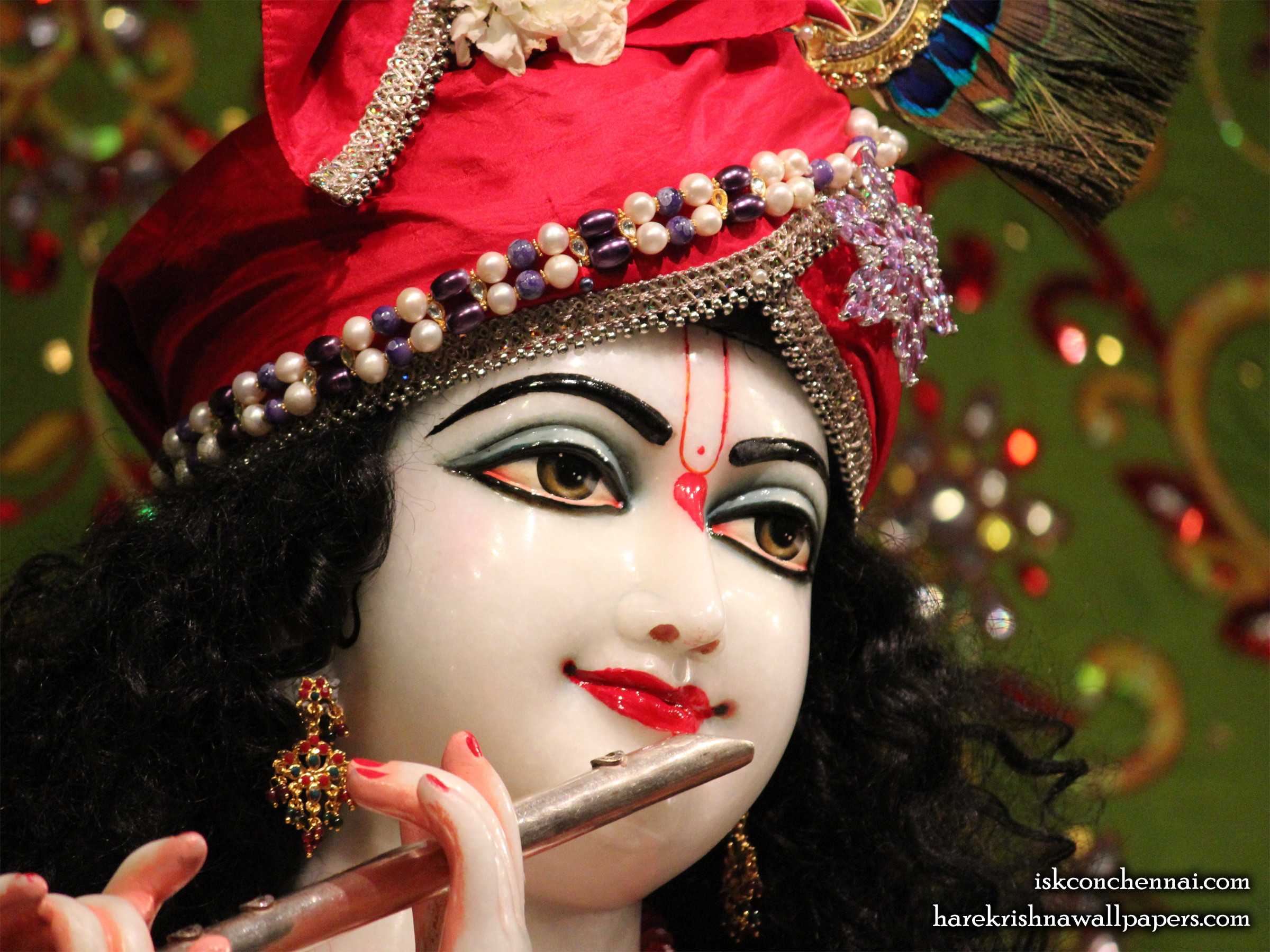 Sri Krishna Close up Wallpaper (001) Size 2400x1800 Download