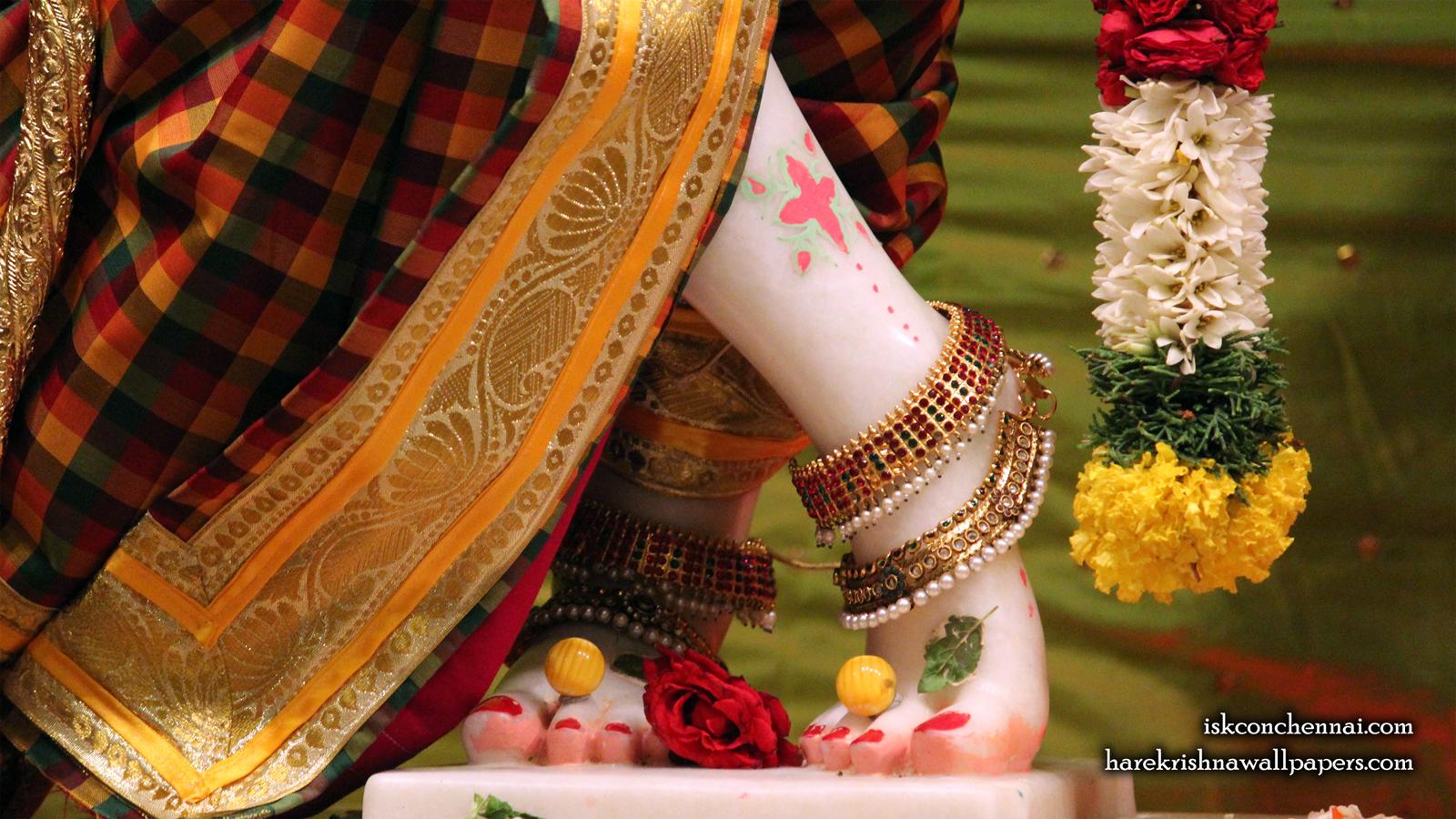 Sri Krishna Feet Wallpaper (001) Size 1600x900 Download