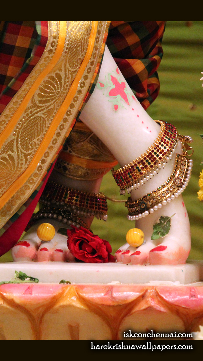 Sri Krishna Feet Wallpaper (001) Size 675x1200 Download