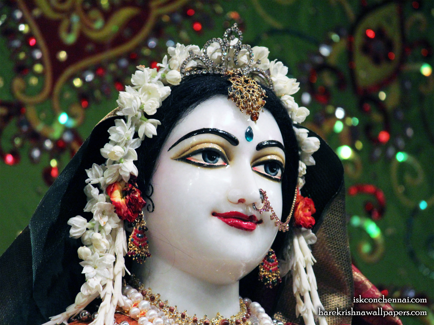 Sri Radha Close up Wallpaper (001) Size 1400x1050 Download