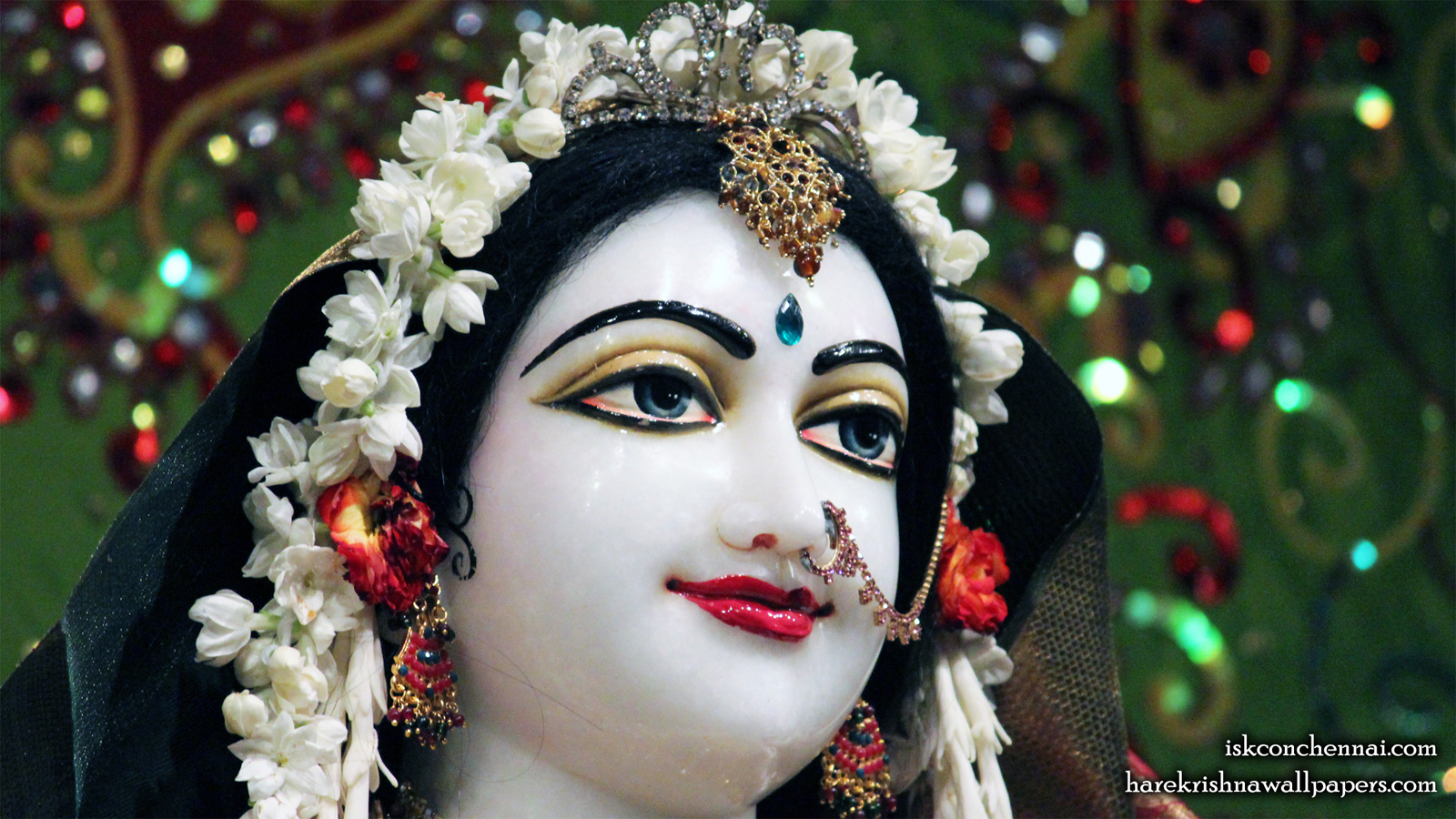 Sri Radha Close up Wallpaper (001) Size 1600x900 Download