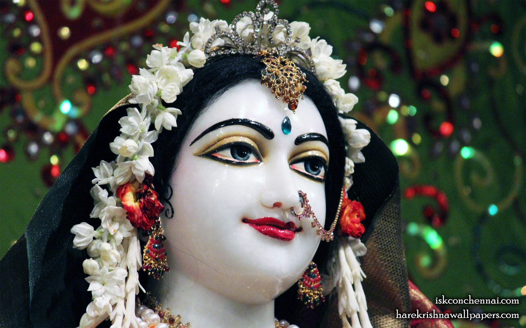 Sri Radha Close up Wallpaper (001) Size 1680x1050 Download