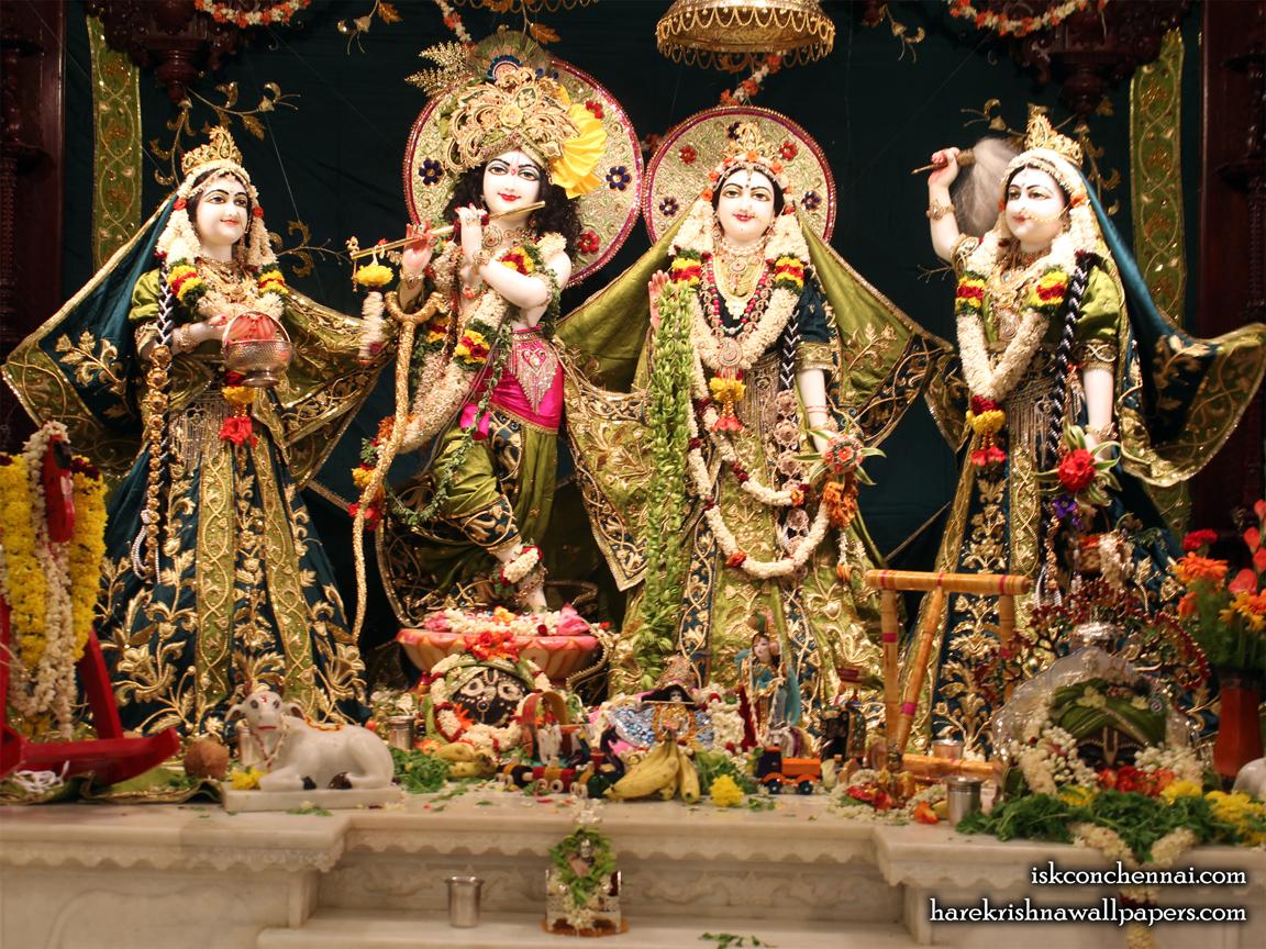 Sri Sri Radha Krishna Lalita Vishakha Wallpaper (001) Size 1152x864 Download