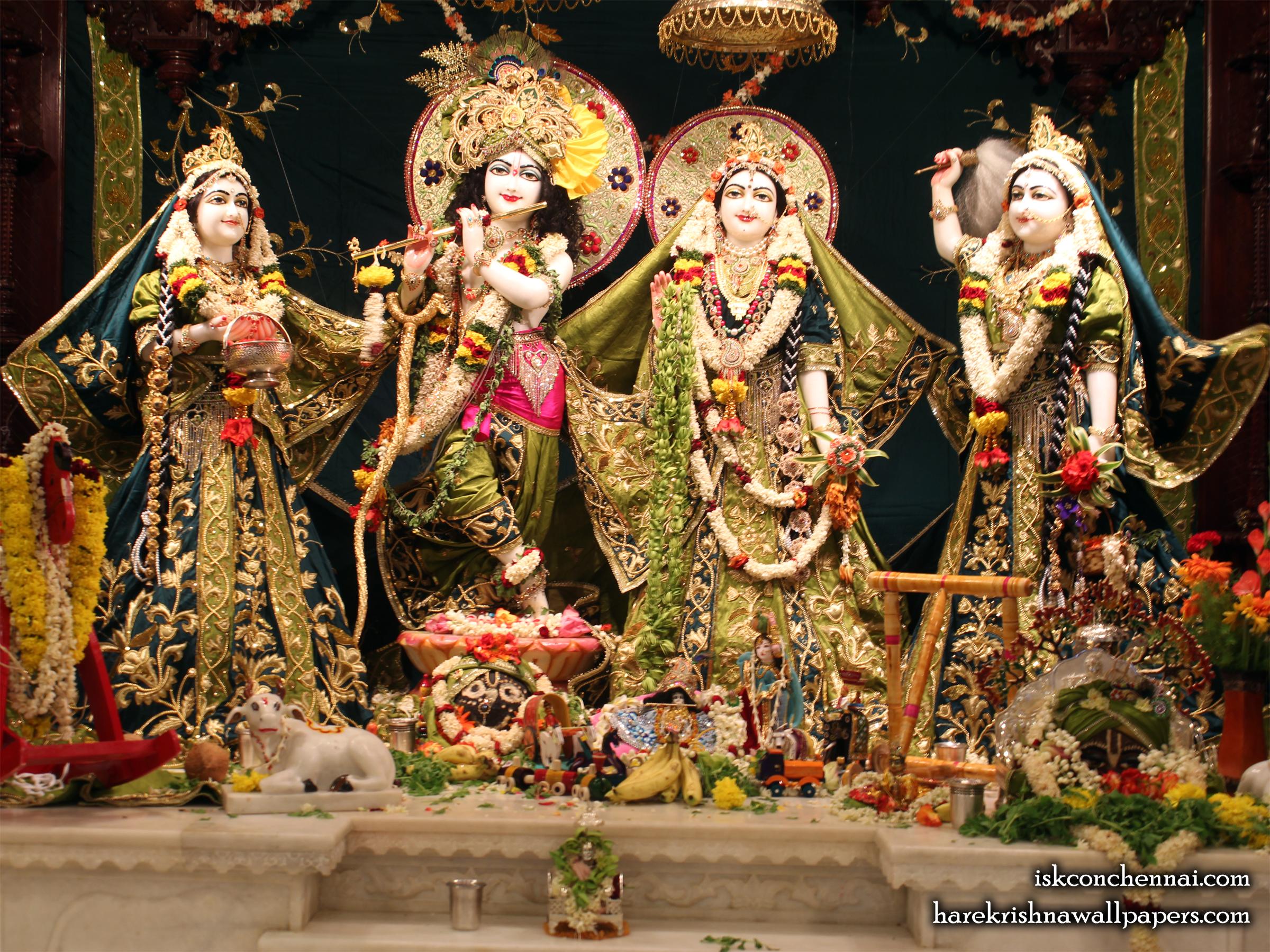 Sri Sri Radha Krishna Lalita Vishakha Wallpaper (001) Size 2400x1800 Download