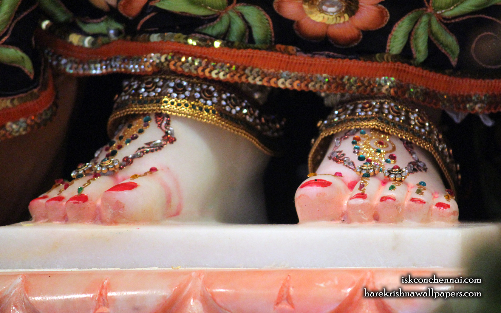 Srimati Radharani Feet Wallpaper (001) Size 1680x1050 Download