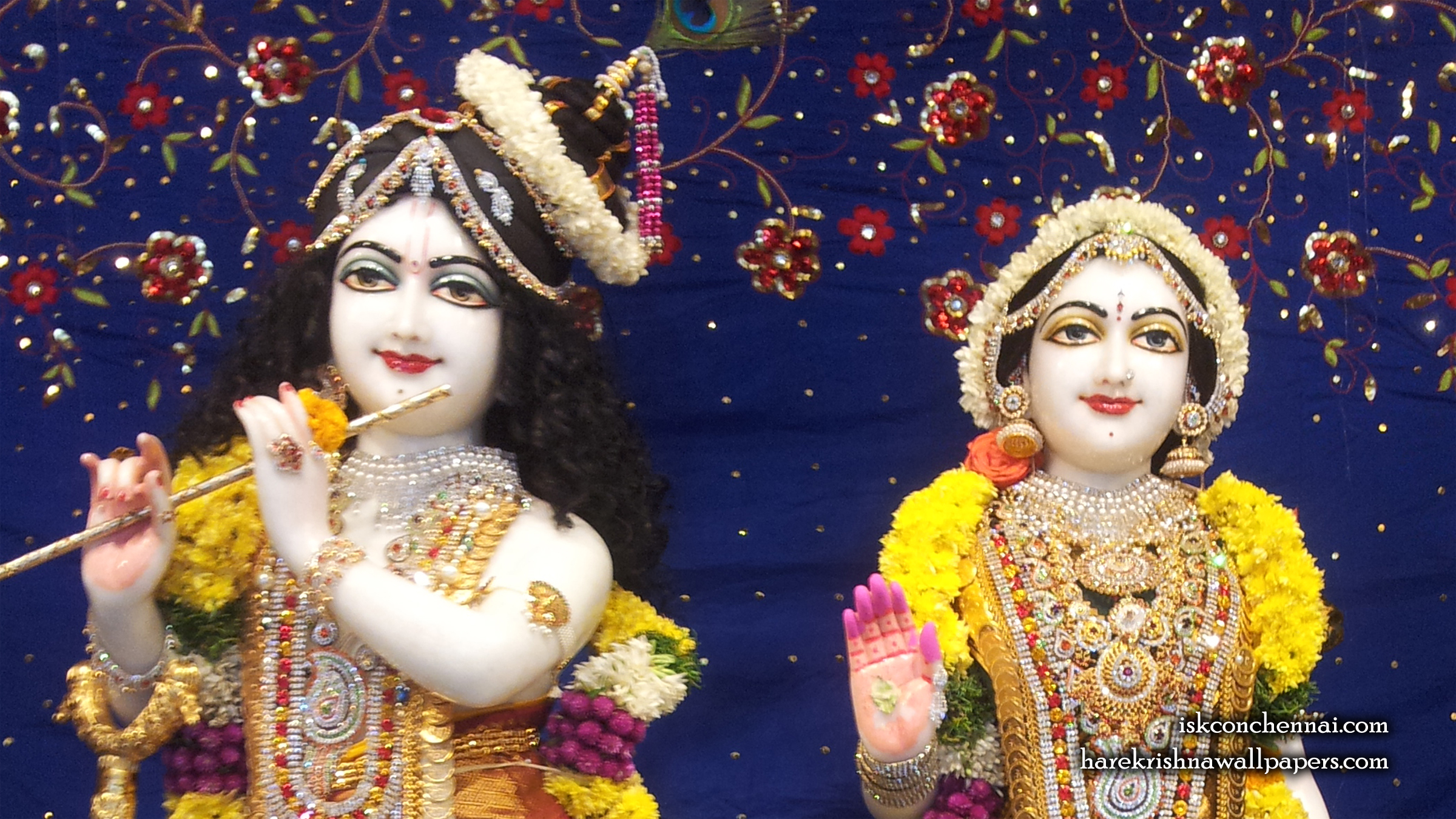 Sri Sri Radha Krishna Close up Wallpaper (002) Size 2400x1350 Download