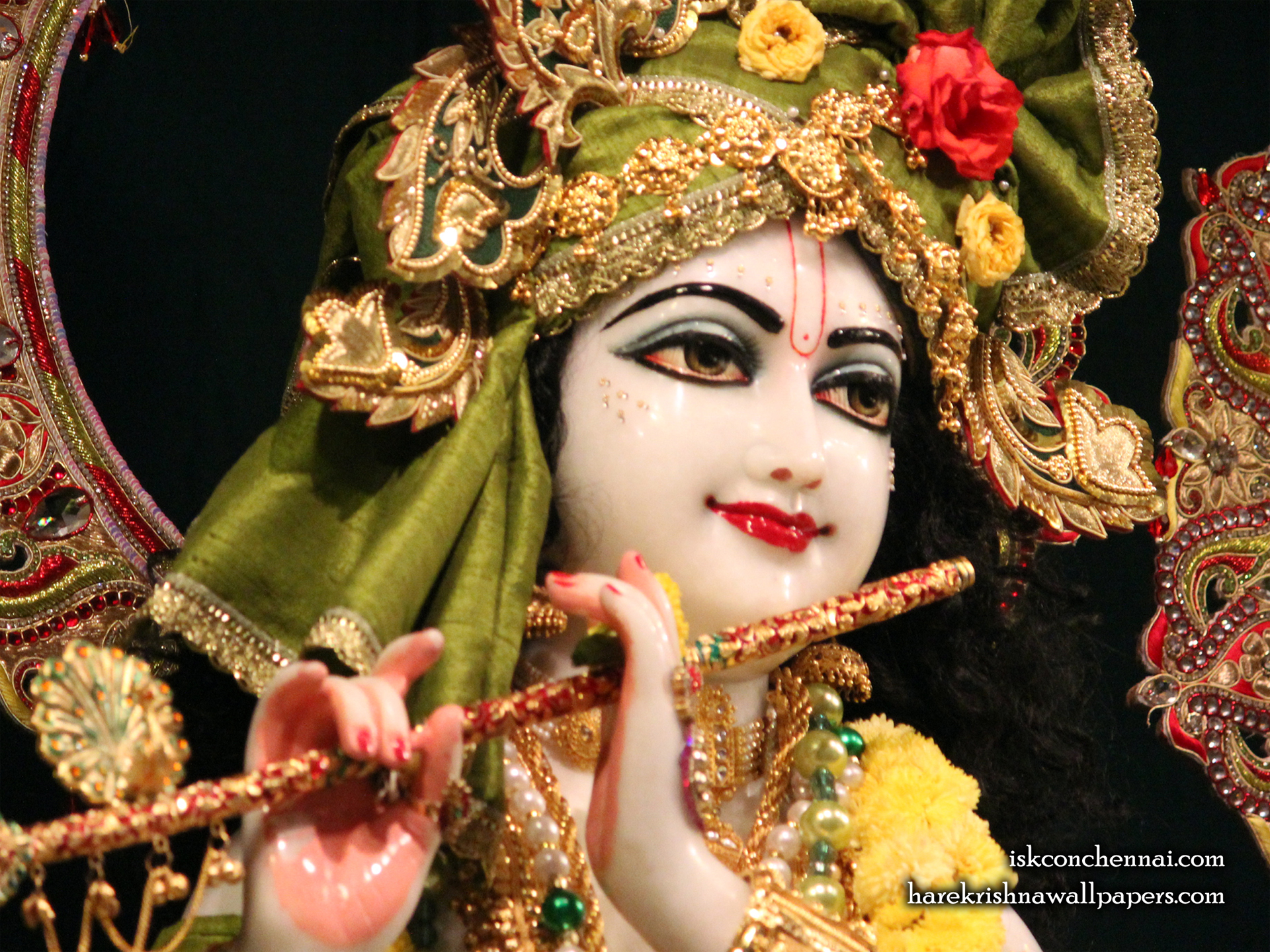 Sri Krishna Close up Wallpaper (003) Size 1920x1440 Download