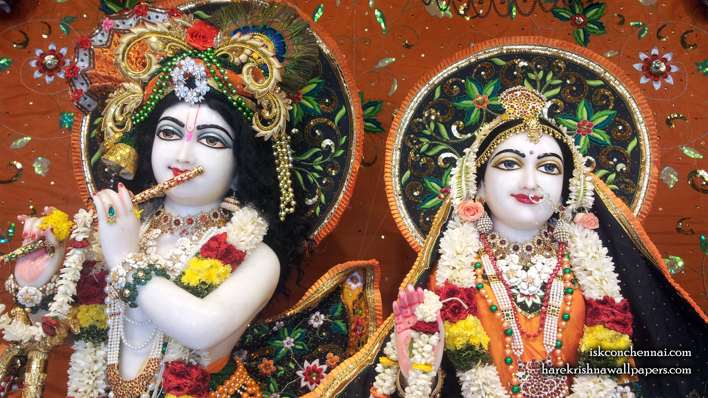Sri Sri Radha Krishna Close up Wallpaper (003) Size 2400x1350 Download