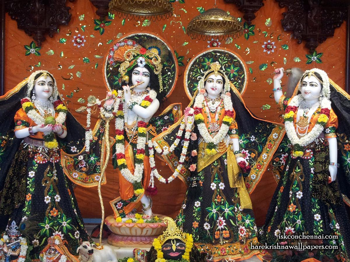 Sri Sri Radha Krishna Lalita Vishakha Wallpaper (003) Size 1200x900 Download