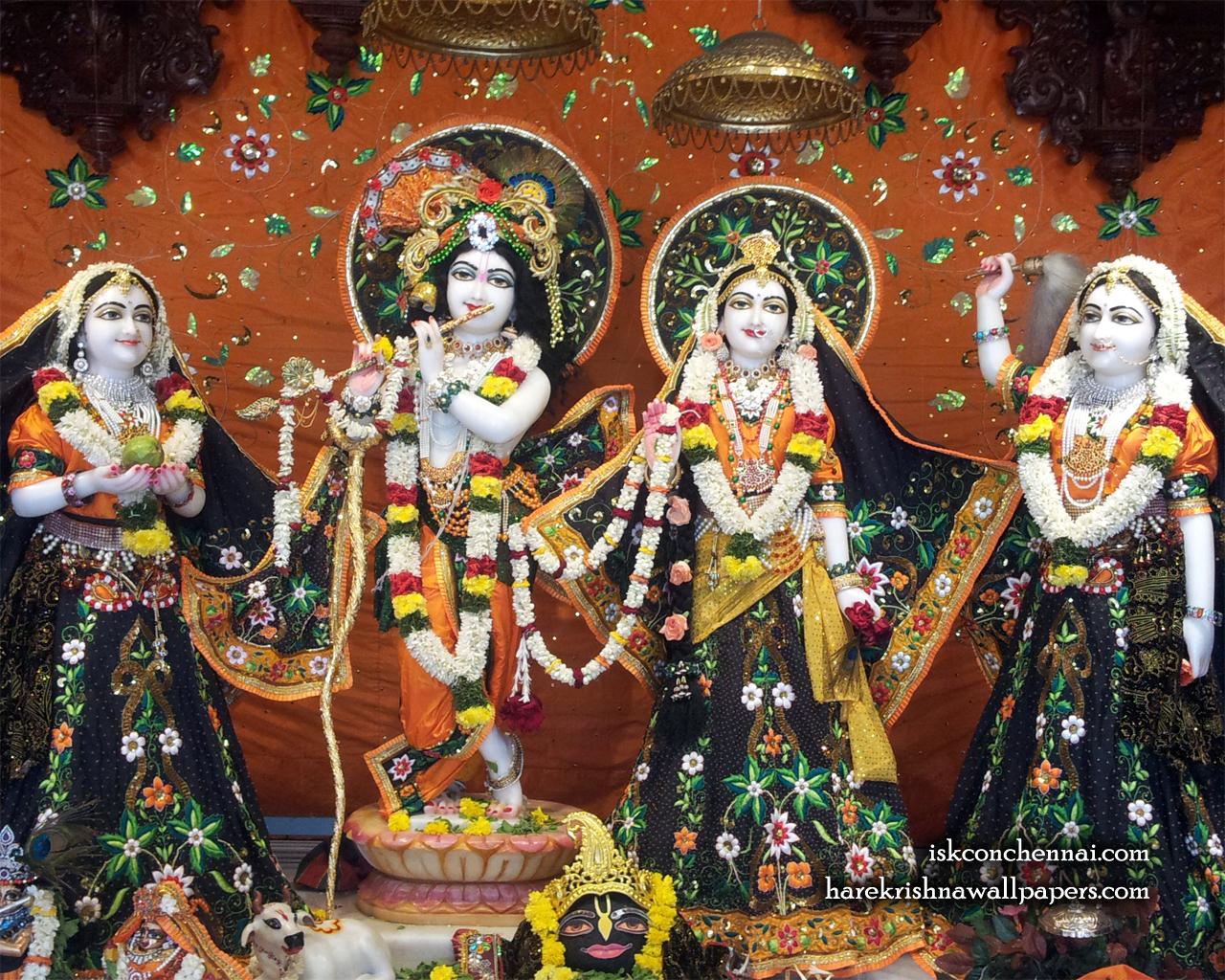 Sri Sri Radha Krishna Lalita Vishakha Wallpaper (003) Size 1280x1024 Download