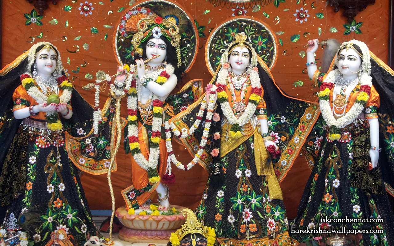 Sri Sri Radha Krishna Lalita Vishakha Wallpaper (003) Size 1280x800 Download