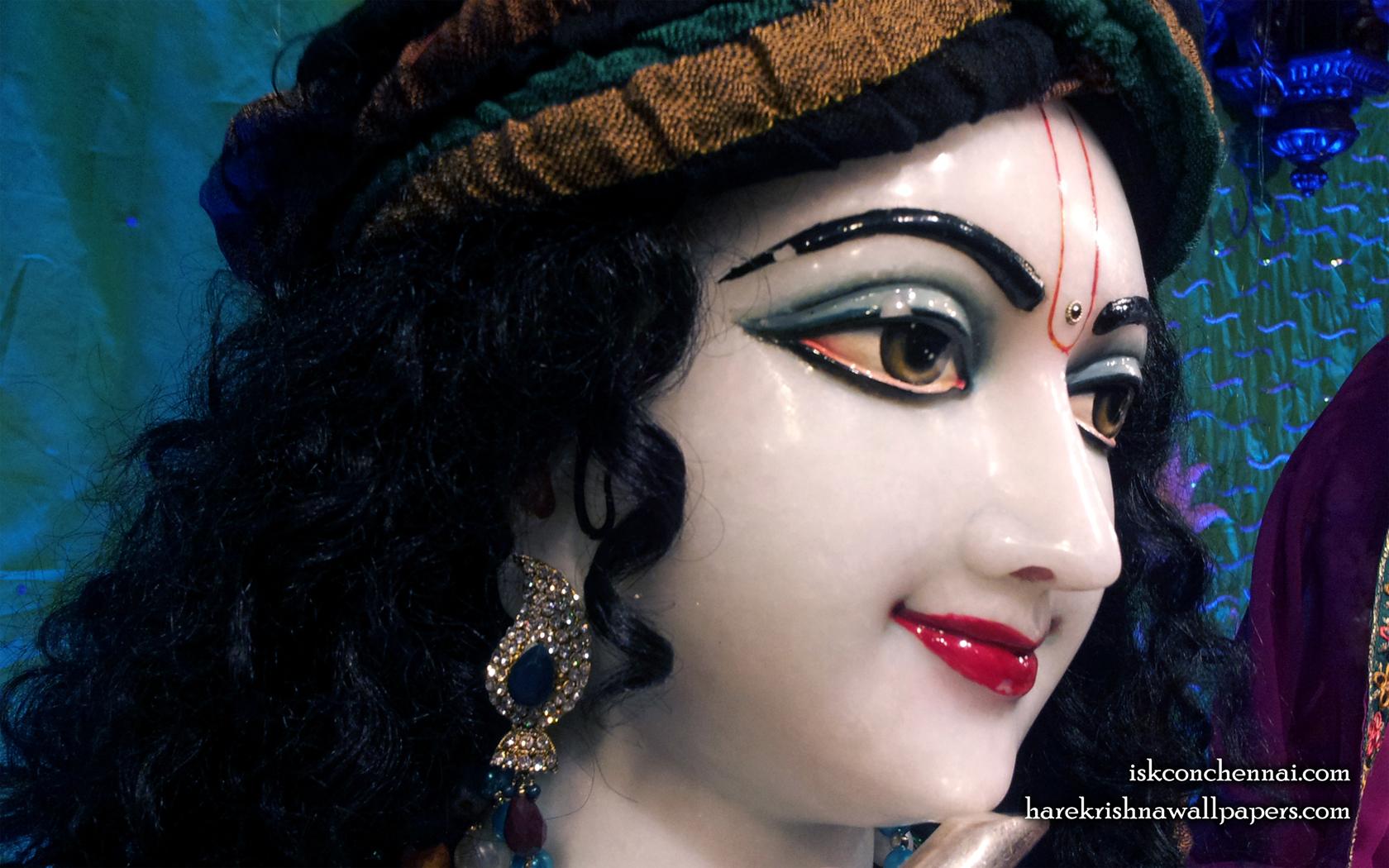 Sri Krishna Close up Wallpaper (004) Size 1680x1050 Download