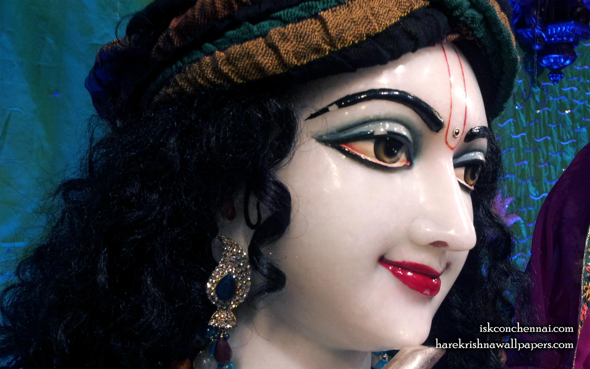 Sri Krishna Close up Wallpaper (004) Size 1920x1200 Download