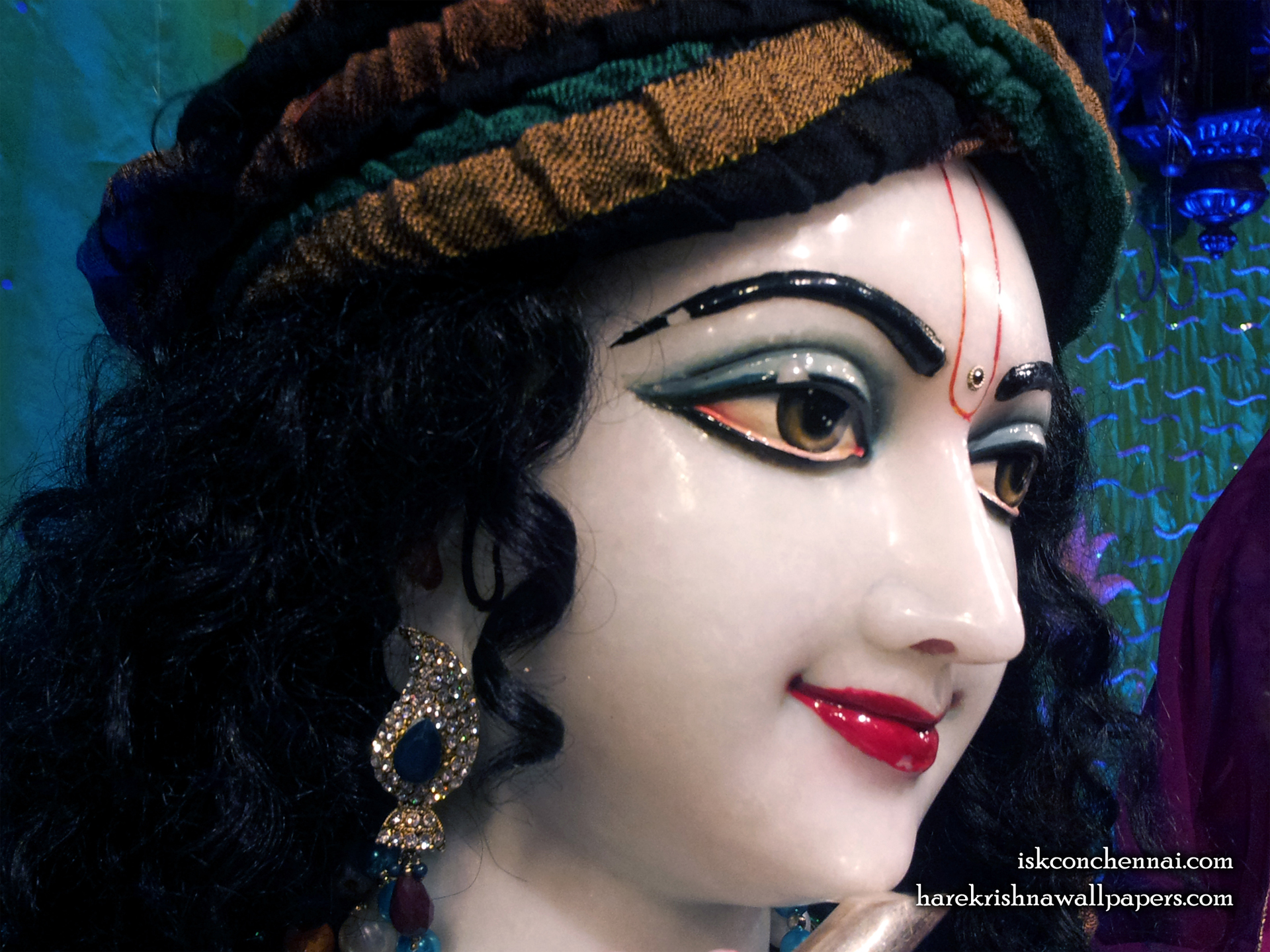 Sri Krishna Close up Wallpaper (004) Size 1920x1440 Download