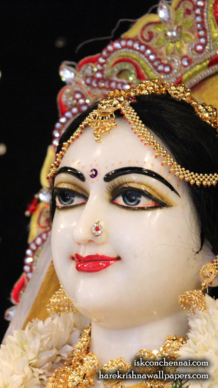 Sri Radha Close up Wallpaper (004) Size 450x800 Download