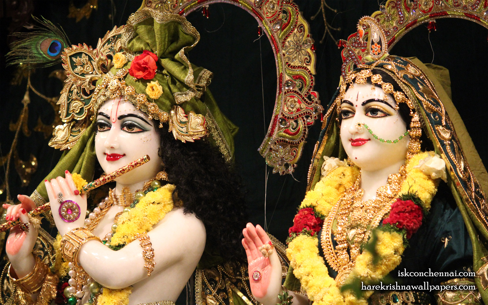 Sri Sri Radha Krishna Close up Wallpaper (004) Size 1680x1050 Download
