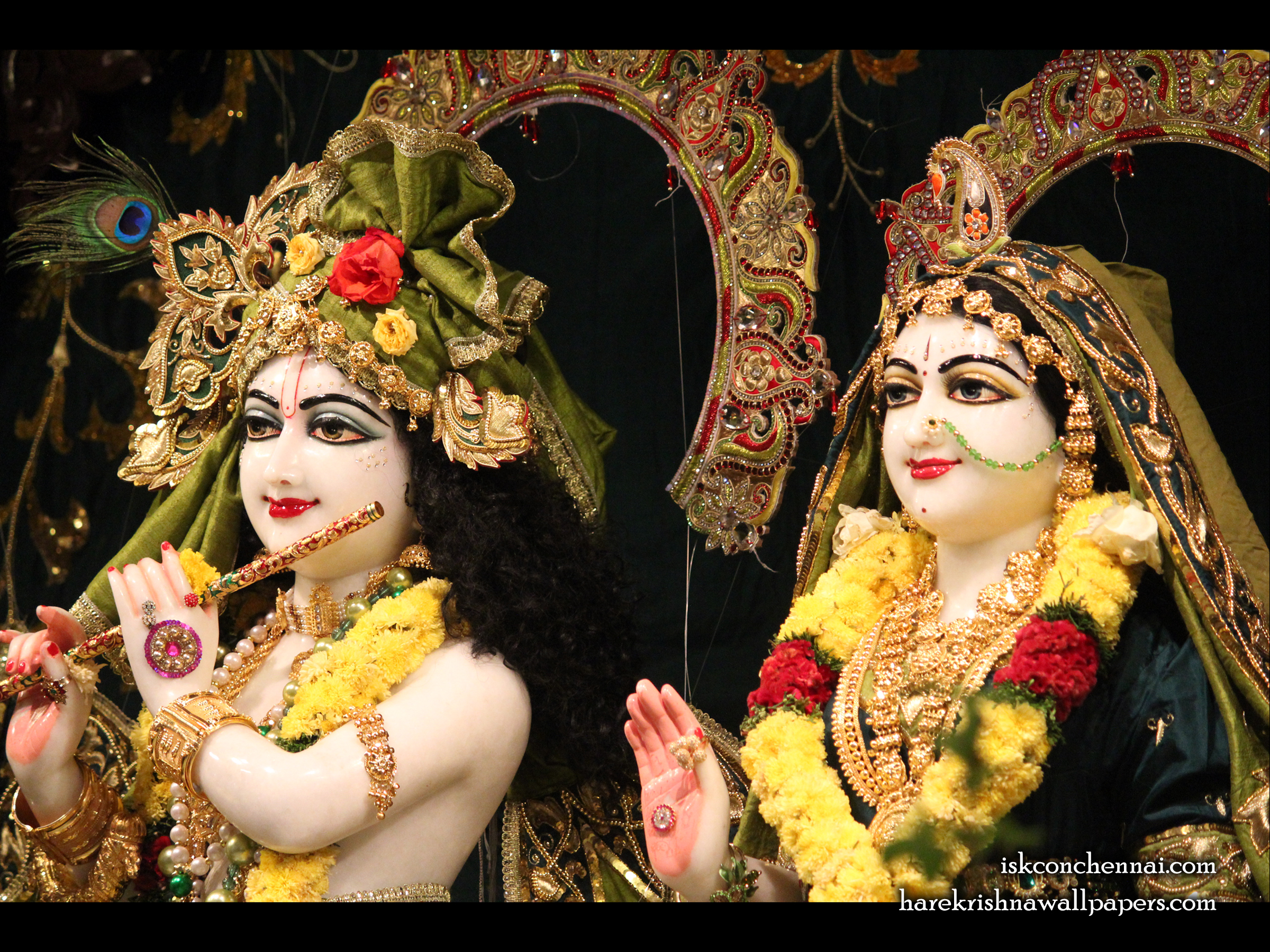 Sri Sri Radha Krishna Close up Wallpaper (004) Size 2400x1800 Download