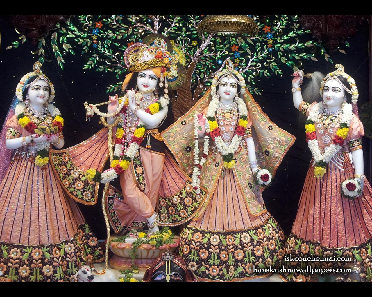 Sri Sri Radha Krishna Lalita Vishakha Wallpaper (004) Size 1280x1024 Download